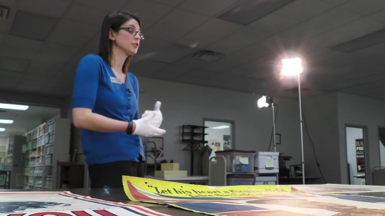There are over 500 posters in the archival collection with 150 of them from the WWI era here at the National Museum of the U.S. Air Force. Many posters were used as WWI propaganda purposes. Pictures of WWI art were used to sell liberty war bonds, fund the Red Cross, and support soldiers.