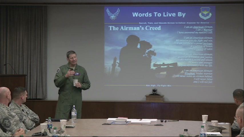 The Air Force wants to cultivate and instill this same culture of commitment between all Airmen. Airmen at all levels have a role as Wingmen and are encouraged to lead by example – to be good Wingmen, by taking care of themselves and those around them – and taking action when signs of stress are observed.