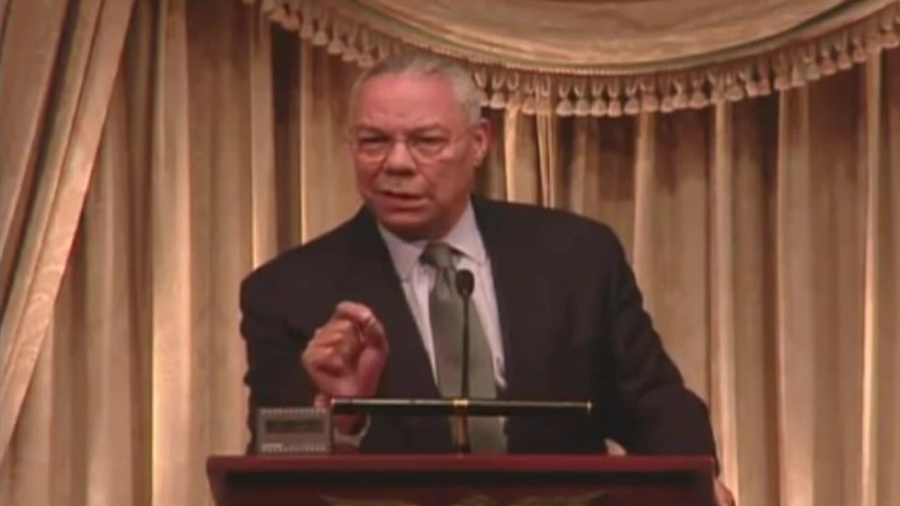 Colin Powell discusses the most important element of leadership--Trust!