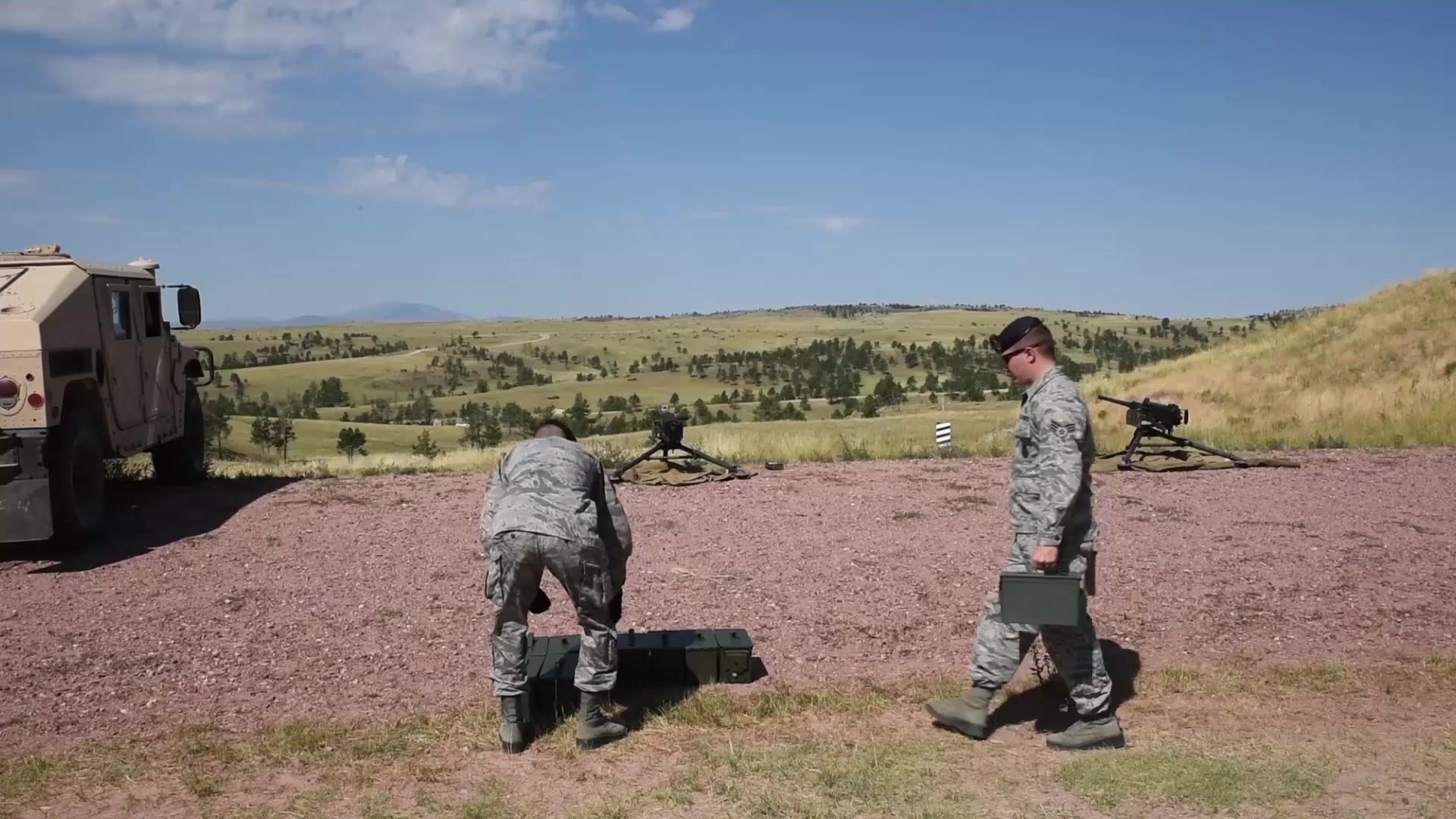 Members of the 153rd Security Forces Squadron went to Guernsey, Wyoming to train on the .50-caliber machine gun.