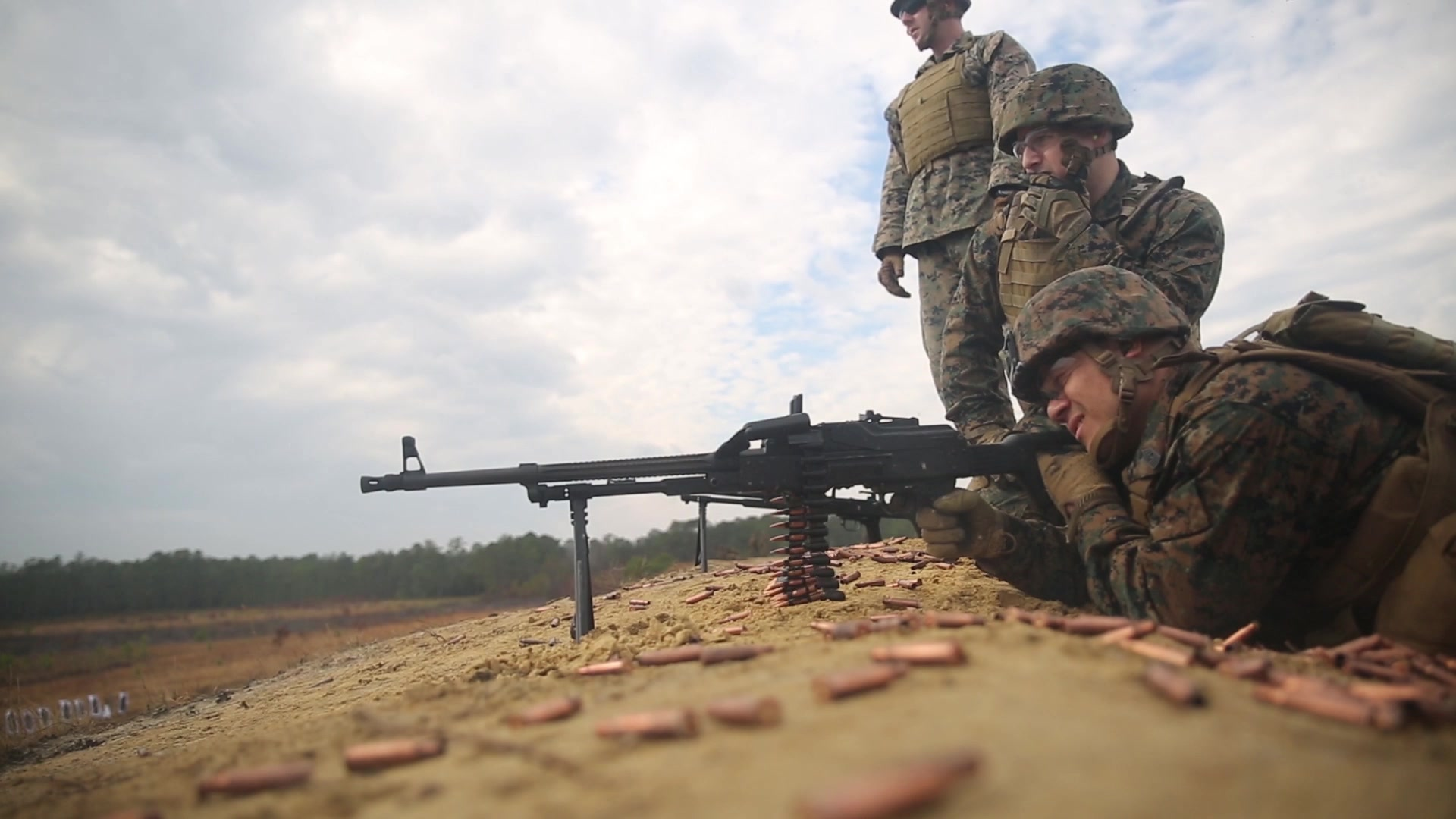 U.S. Marines • Fire Machine Guns & Grenade Launchers • Camp Pendleton, Calif • Sept 4, 2020