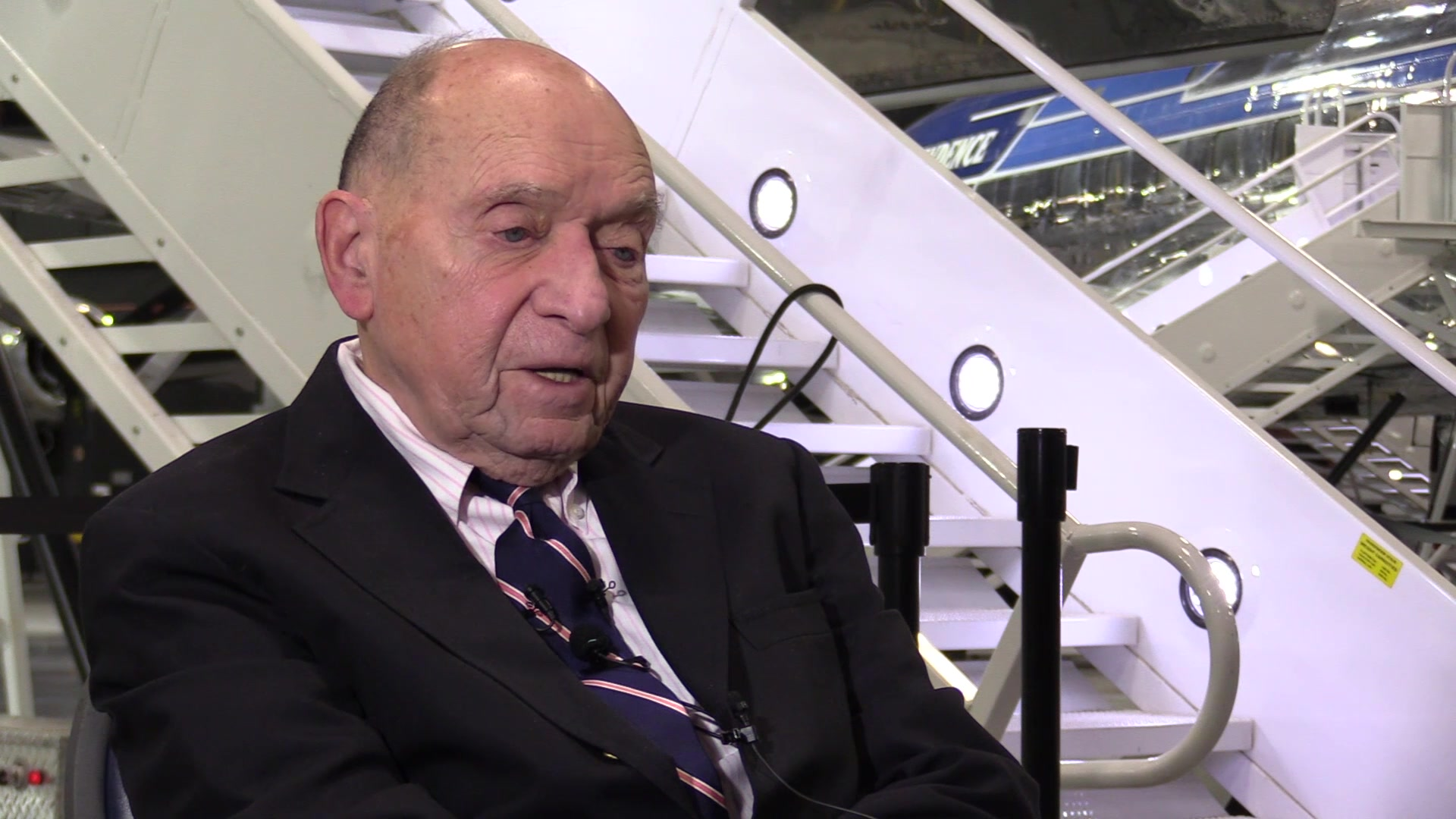 Here's an interview with former White House pool reporter Sid Davis, who visited the museum taking a tour of SAM 26000, the Presidential aircraft that carried John F. Kennedy's body from Dallas to Washington D.C. on Nov. 22, 1963. Visitors can view this aircraft in the museum's Presidential Gallery.