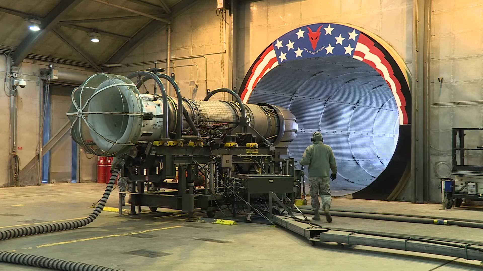 DVIDS Video 177th Fighter Wing gas turbine engine testing