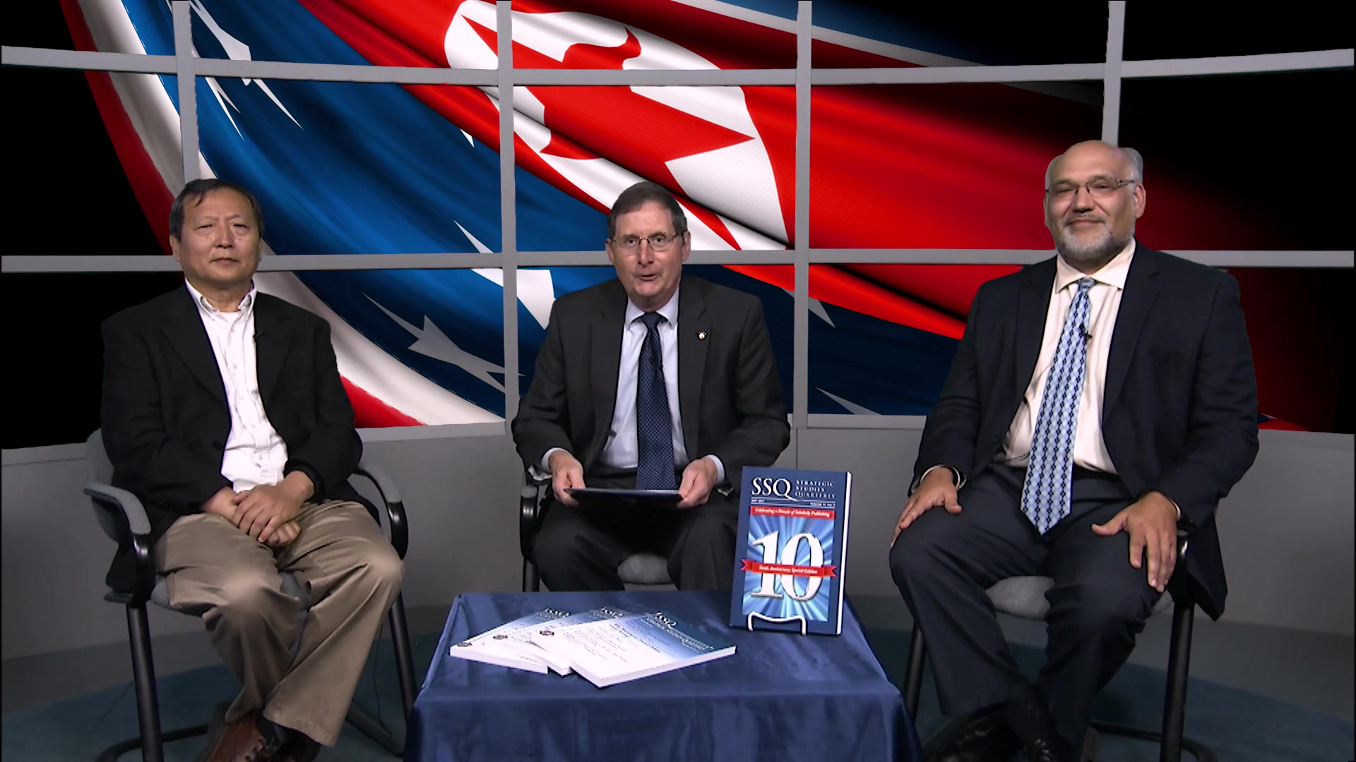 The first edition of a Strategic Studies Quarterly (SSQ): Issues and Answers, where the Editor of SSQ hosts a discussion about North Korea with 2 professors from Air University's Air War College (AWC) and Air Command and Staff College (ACSC).   Michael Guillot - Editor, SSQ Dr. Xiaoming Zhang - Professor of Strategy, AWC Dr. Michael Kraig - Associate Professor of National Security Studies, ACSC