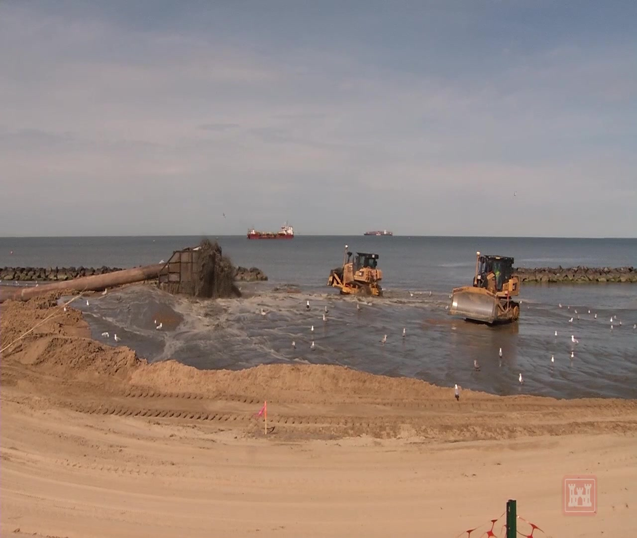 For 12 weeks, contractors worked around-the-clock, using dredges to suck up sand from the bottom of the Chesapeake Bay in the Norfolk, Virginia neighborhoods of Willoughby Spit, East Ocean View and Ocean View. The effort was done to raise and widen the beach to protect infrastructure in this portion of the city.