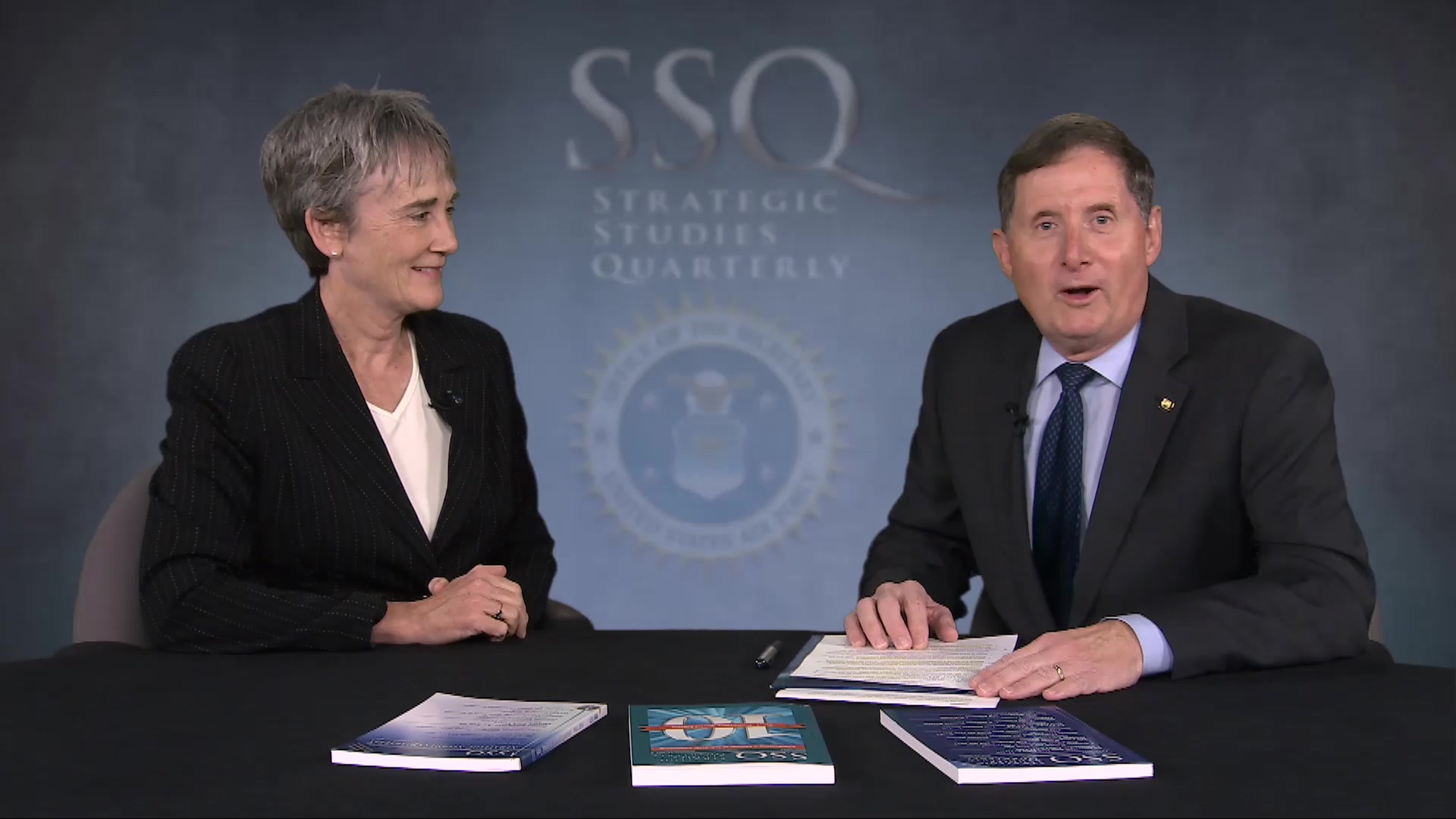 An interview with the Secretary of the Air Force, the Honorable Heather Wilson. The interview is moderated by the editor of Strategic Studies Quarterly (SSQ) and highlights current national security issues facing the Air Force.