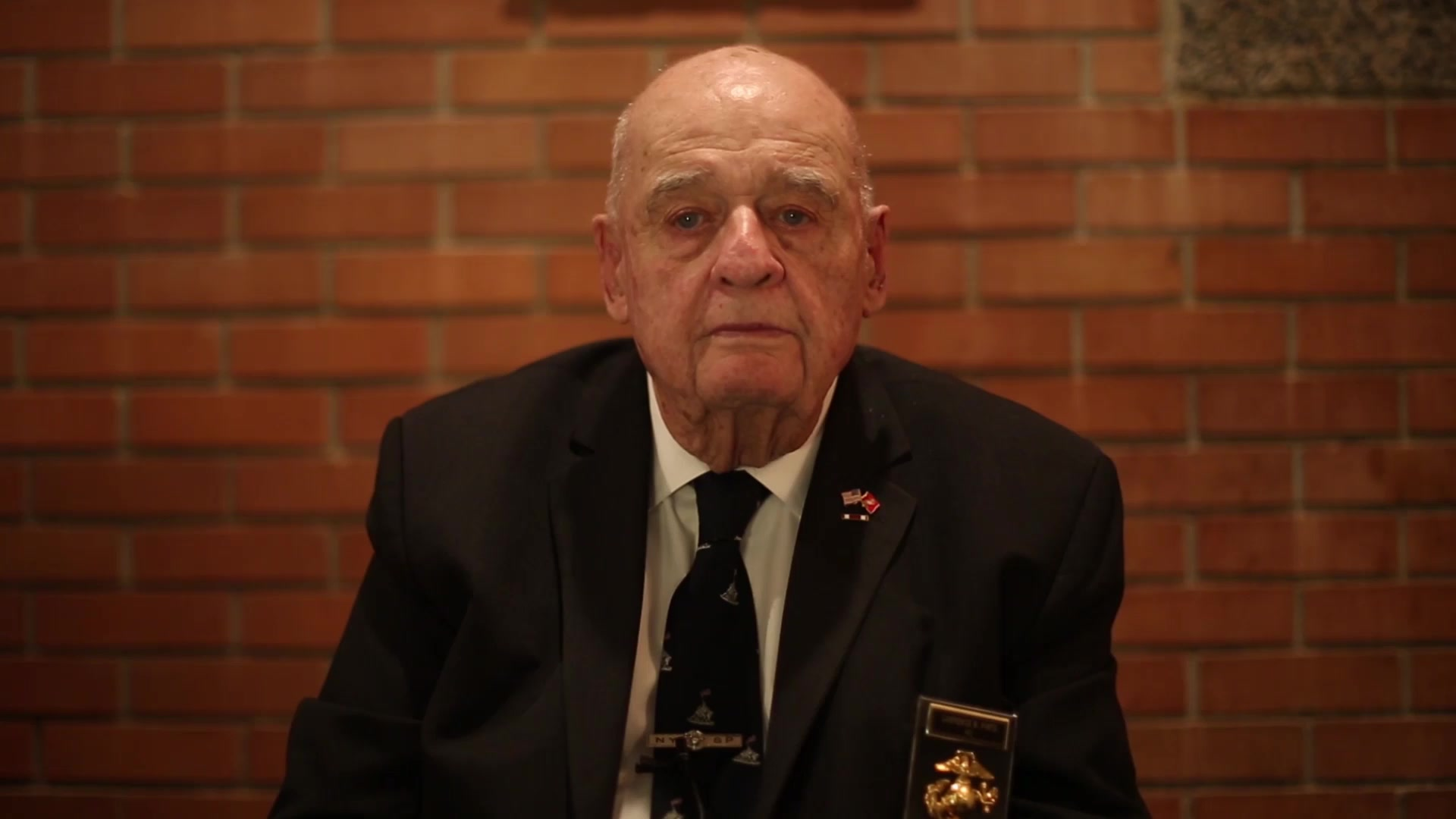 Angelo Ciota, Geoffrey Hart, Larry Pinto, and Jack Seiferth, veterans of the Battle of Iwo Jima, recall the events that took place during their time on the island 73 years ago. This video was shot to capture the experiences these veterans had during the Battle of Iwo Jima. This was shot in New York, New York on Mar. 1, 2018.