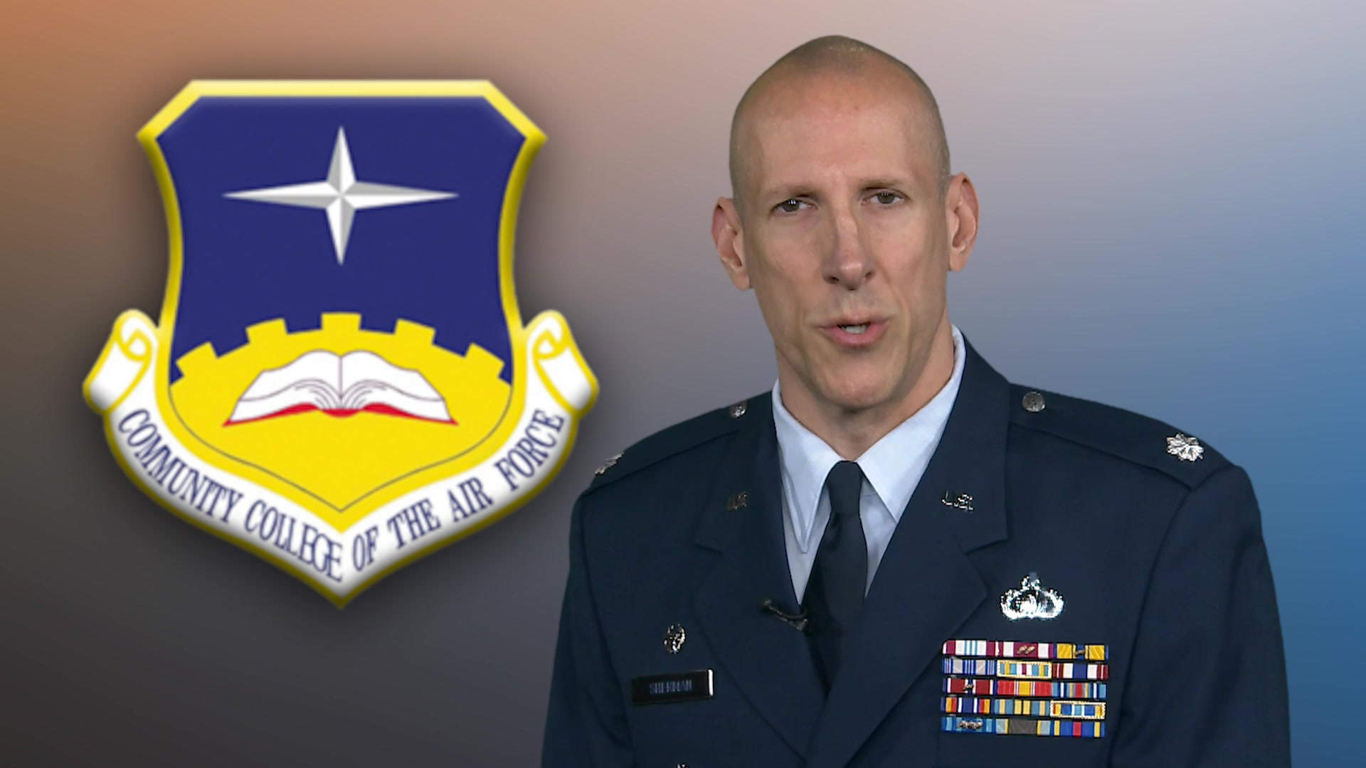 Commander's Introduction Video for CCAF Website.