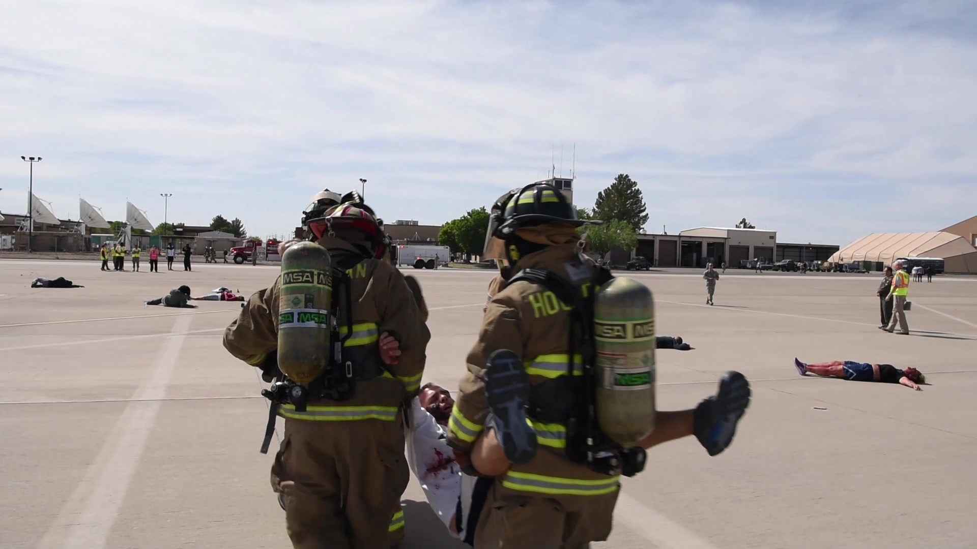 As Airmen we are ready anytime, anyplace. Airmen at Holloman Air Force Base recently tested their readiness during a Major Accident Response Exercise. This is the largest exercise since 2014, and featured first responders from the local community.