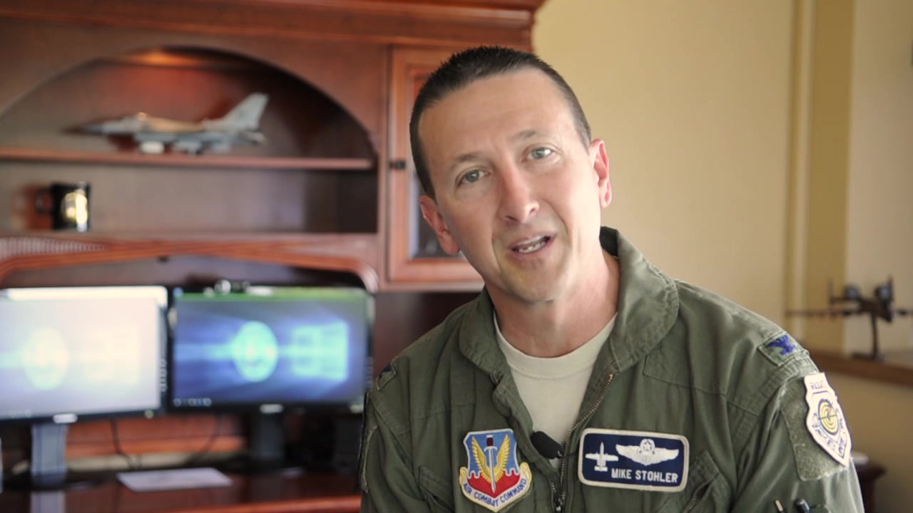 """Meet the new 122nd Fighter Wing Base Commander, Col. Michael """"Stoli"""" Stohler in his inaugural """"Snake Byte"""" video presentation!"""