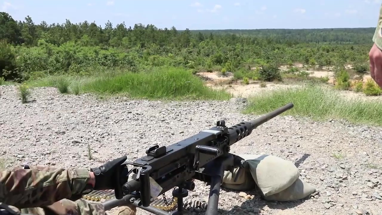 U.S. Army Reserve warriors from across the country fire the M2 .50 Caliber Machine Gun at the 2018 U.S. Army Reserve Best Warrior Competition at Fort Bragg, North Carolina, June 10, 2018. This year's Best Warrior Competition will determine the top noncommissioned officer and junior enlisted Soldier who will represent the U.S. Army Reserve in the Department of the Army Best Warrior Competition later this year at Fort A.P. Hill, Virginia. (U.S. Army Reserve Video by Sgt. Brady Pritchett)