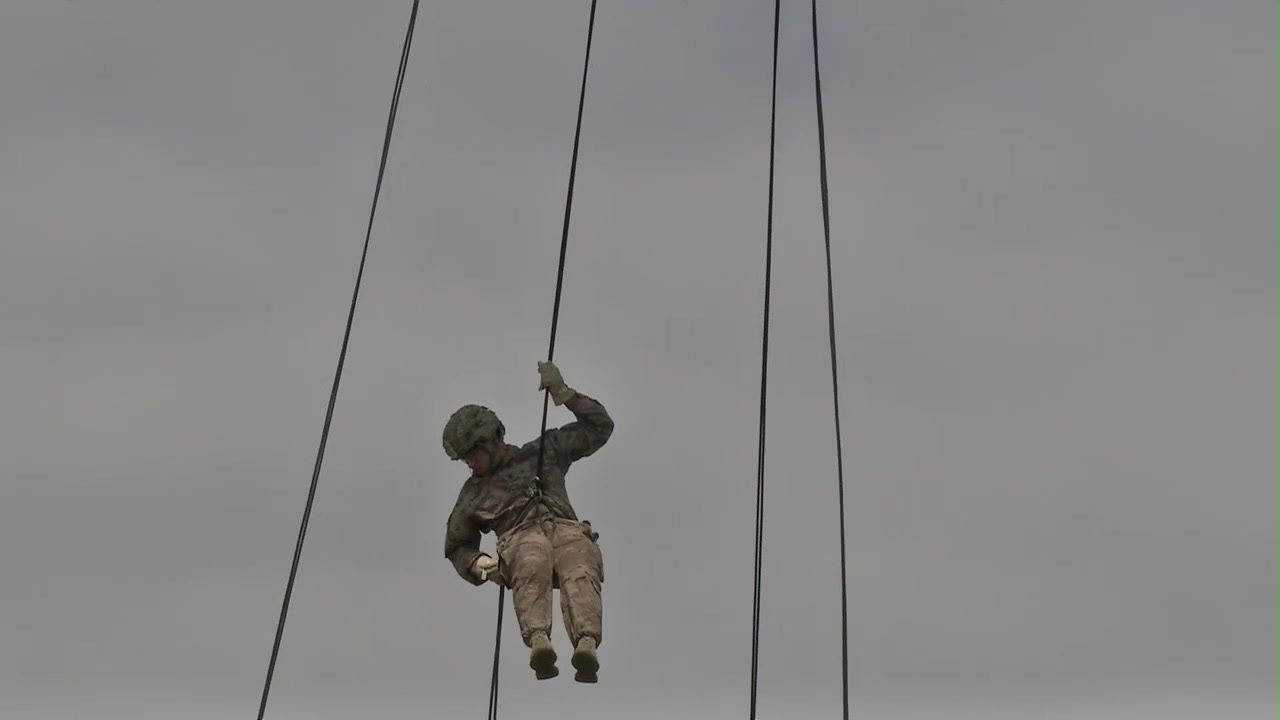 U.S. Army Reserve Best Warrior competitors from across the country rappel from  UH-60 Black Hawk at Fort Bragg, North Carolina, June 11, 2018. Thirty six competitors representing U.S. Army reserve commands through-out the world are vying for the noncommissioned officer and junior enlisted Soldier U.S. Army Reserve Best Warrior titles. (U.S. Army Reserve video edited by Sgt. 1st Class Donna Davis)