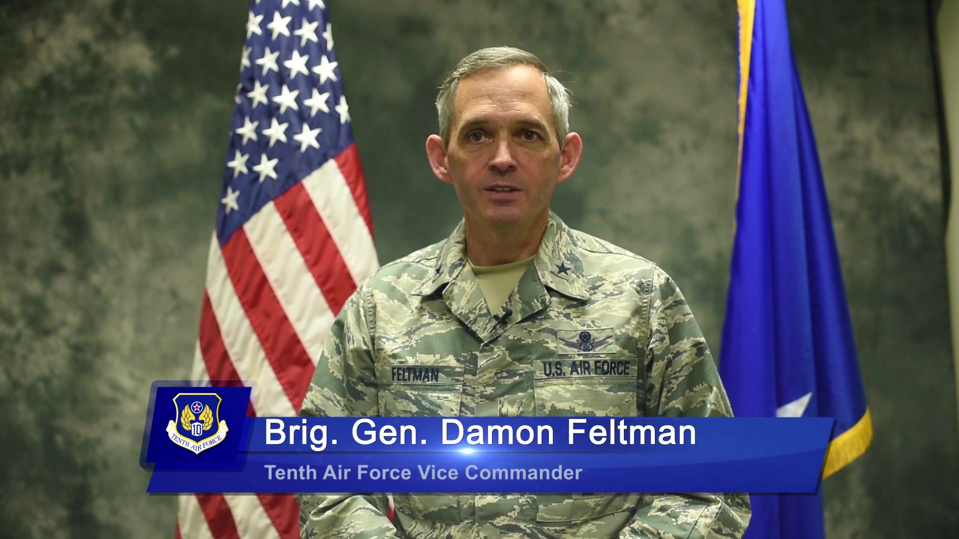 For Tenth Air Force's July commentary, Brig. Gen. Feltman discusses Space and Cyberspace mission sets.