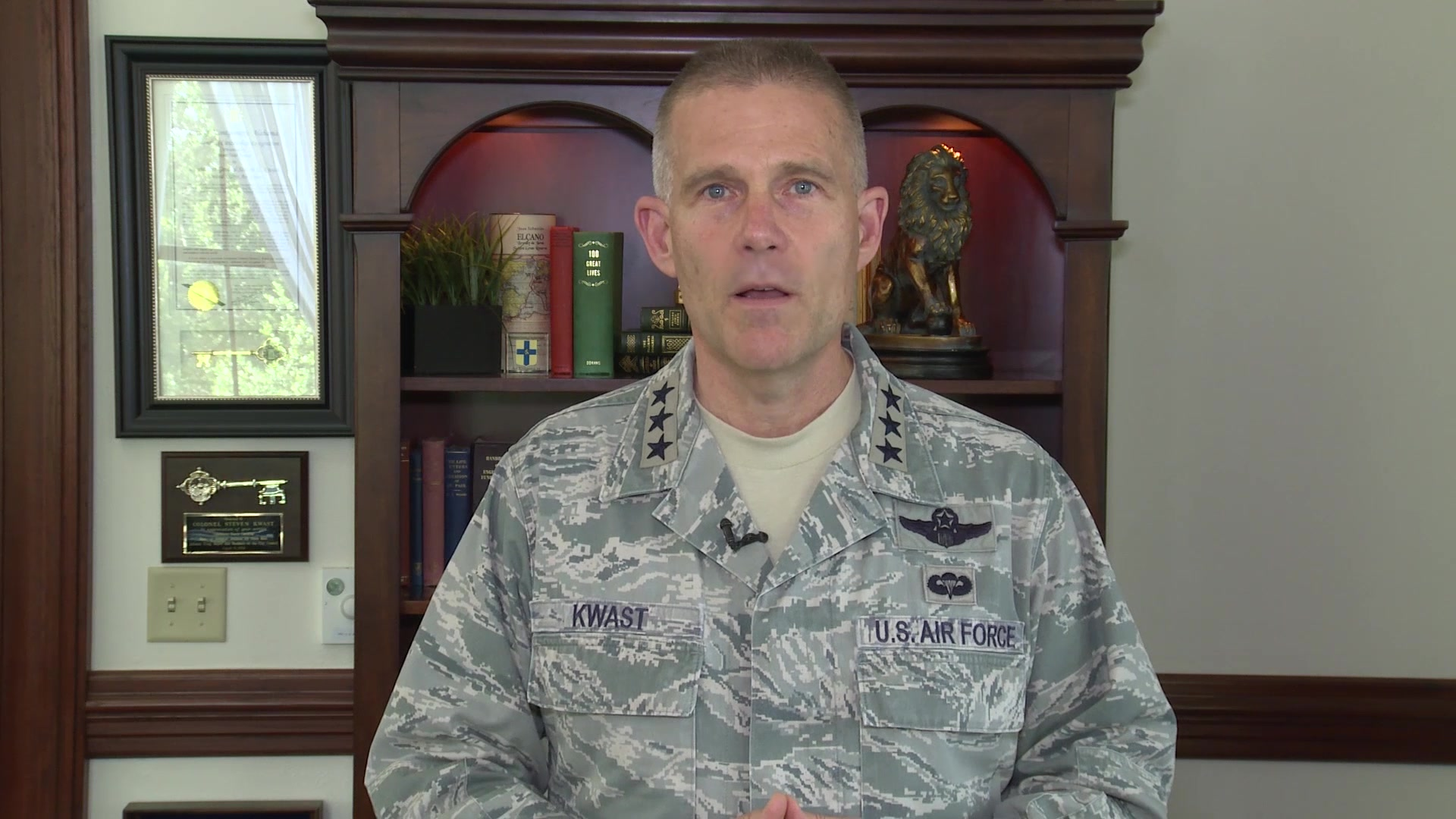 """""""Coaching is one of the key elements of learning in life. The better coach that you are, the better leader you are and the better learner you become.""""  Check out the latest Commander's Intent video from Lt. Gen. Steve Kwast where he urges First Command Airmen to coach one another on their individual plans for the future."""