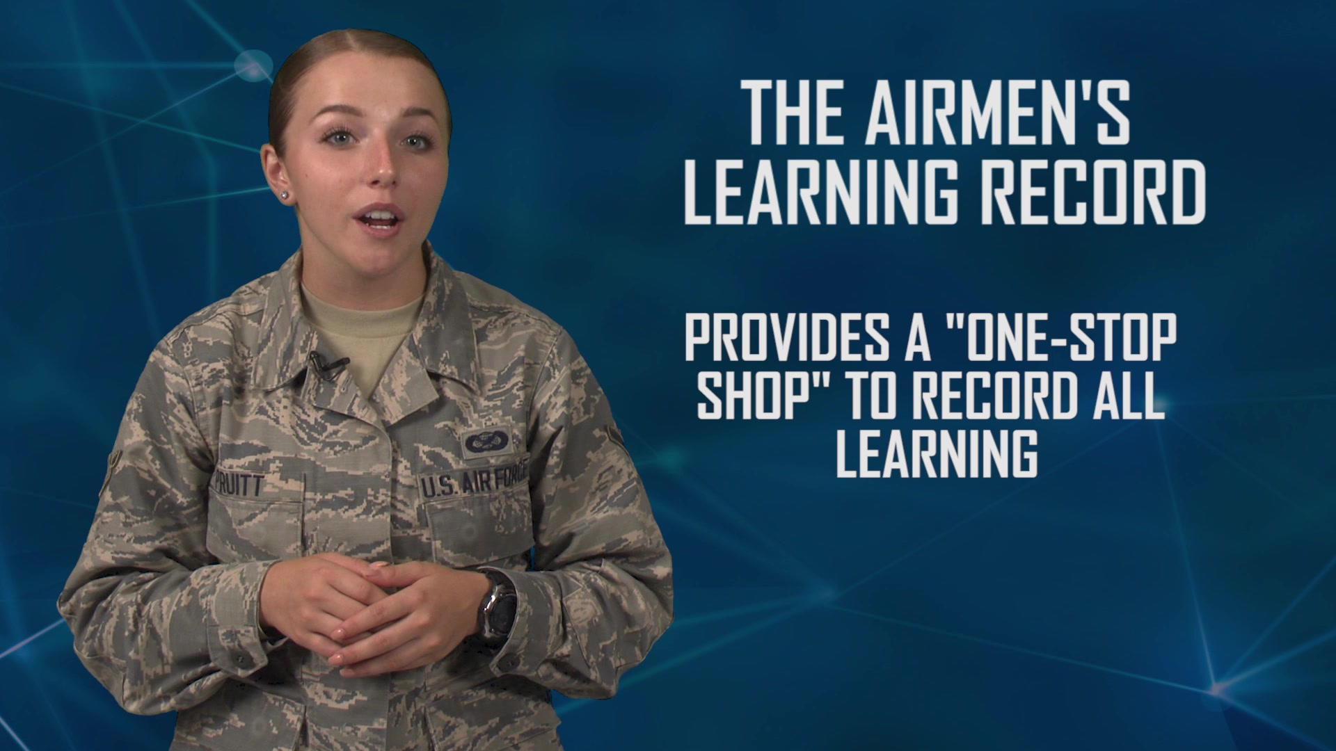 Air Education and Training Command is reimagining the way Airmen learn through the Continuum of Learning, a paradigm shift in education, training and the capitalization of experiences.   This video explains the Airmen's Learning Record.