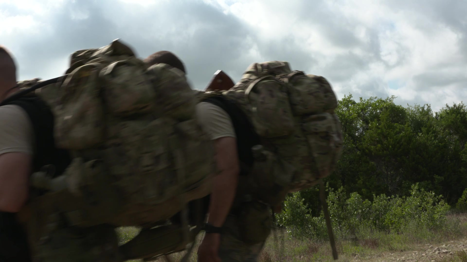 Survival, Evasion, Resistance, and Escape (SERE) candidates participate in field training exercise June 27, 2018 at Camp Bullis, Texas. Candidates must overcome roughly a year's worth of demanding training before calling themselves SERE specialists. Their trials start with the SERE Specialist Training Orientation Course (SST-OC) located at Joint Base San Antonio. (U.S. Air Force video by Marcelo Joniaux)