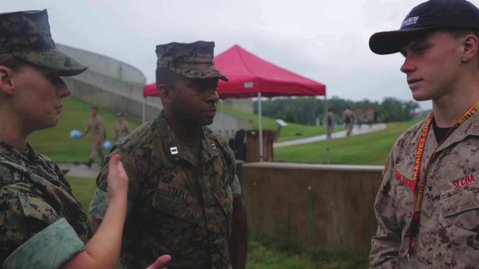 """Approximately 200 students graduated Marine Corps Recruiting Command's 2018 Summer Leadership and Character Development Academy (SLCDA) aboard Marine Corps Base Quantico, Virginia, July 22. The students were accepted into the academy, hand-selected by a board of Marines who look to find attendees with similar character traits as Marines, and spent a week aboard the base alongside dozens of Marines. Specifically, they conducted several physical fitness sessions, toured the National Mall in the District of Columbia, visited national museums and heard from guest speakers. They learned Marine Corps martial arts techniques and experienced Marine Barracks Washington's Sunset Parade featuring the iconic Silent Drill Platoon and the Commandant's Own Drum & Bugle Corps. Exposed to the culture of the Marine Corps, attendees participated in several leadership and character development classes that were oriented around Marine Corps leadership and ethics, based on knowledge passed down from one generation of military leaders to the next. They also visited Officer Candidates School, where attendees maneuvered across an obstacle course and learned what it takes to become a Marine officer. Inspired by the Marine Corps' third promise of developing quality citizens, the program was designed to challenge and develop the nation's top-performing high school students so they could return to their communities more confident, selfless and better equipped to improve the lives of those around them. """"Not everyone who wanted to be here, got the chance,"""" said Maj. Gen. James Bierman, the commanding general of MCRC. """"We had more than 800 applications, and we would have liked to take all of them, but there wasn't enough capacity for everybody, so we had to make choices … all of you here today stood out among your peers. The reason why we picked all of you comes from the tangible and intangible; it was your potential that attracted us to you. All of you have the chance to go out and do something g"""