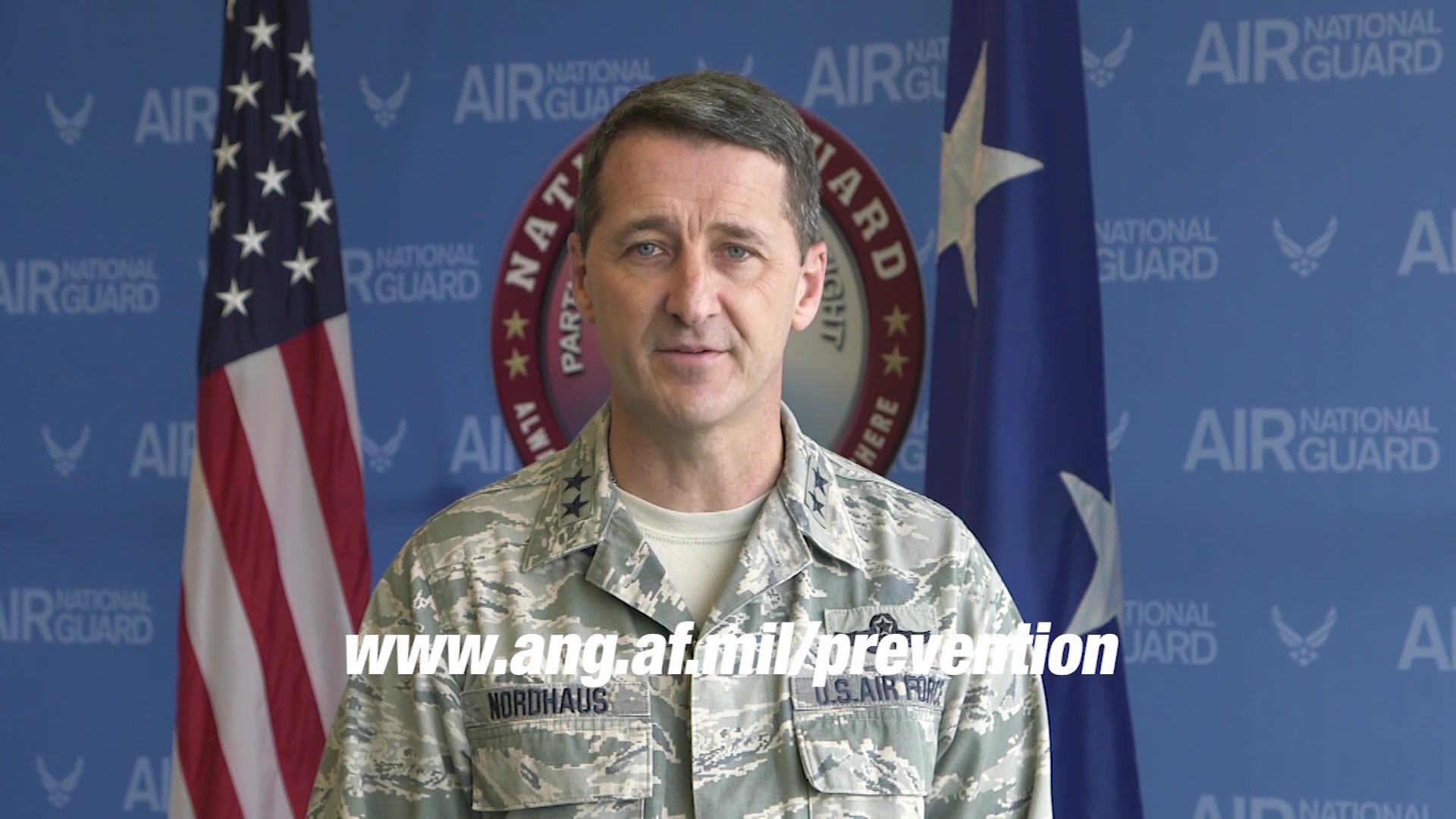 Air National Guard leadership introducing prevention webpage.