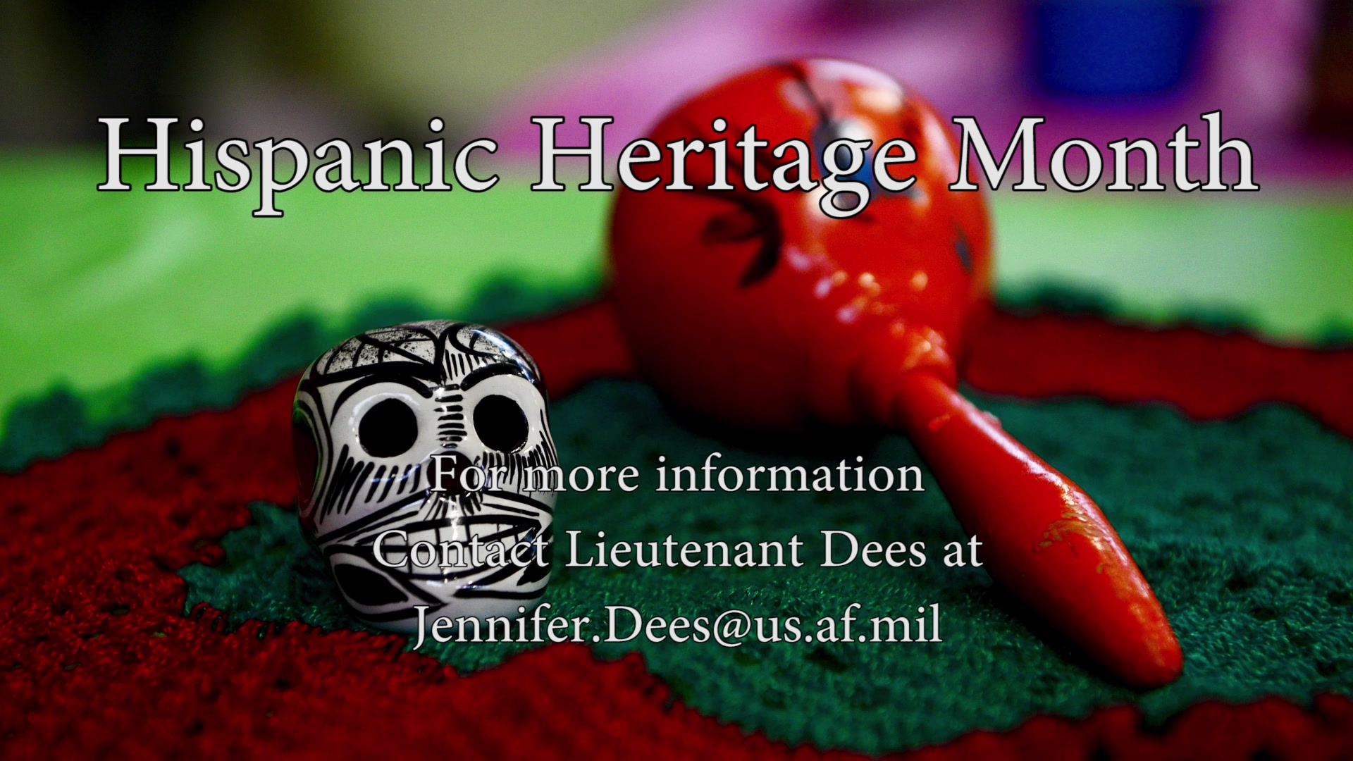 Hispanic Heritage Month is celebrated from September 15th to October 15th. Here is all the events being held around Goodfellow Air Force Base in celebration.