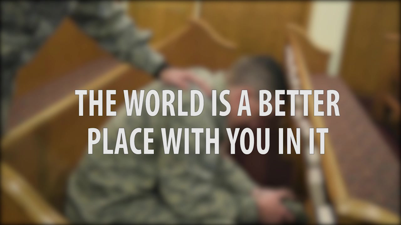 Video showing an airman going through a rough time that seeks help through the Chapel.