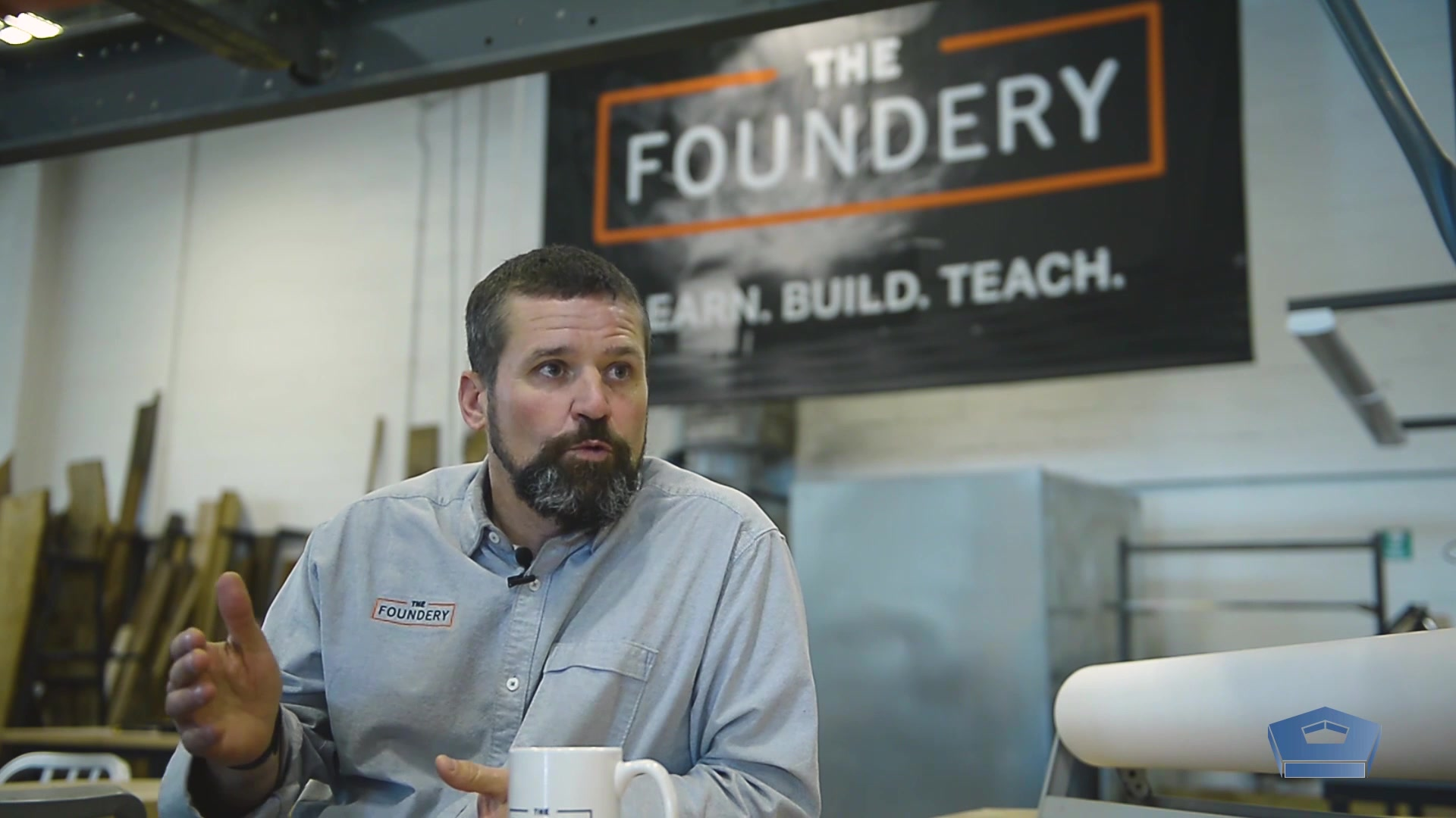 "Jason Hardeback drew from his experience as a U.S. Navy officer to a successful ""makerspace"" known as The Foundery.  It offers a wide a array of creative classes from woodworking to laser engraving, as well as an open workshop for the Baltimore community. How does he do it? Check out his story for more!"