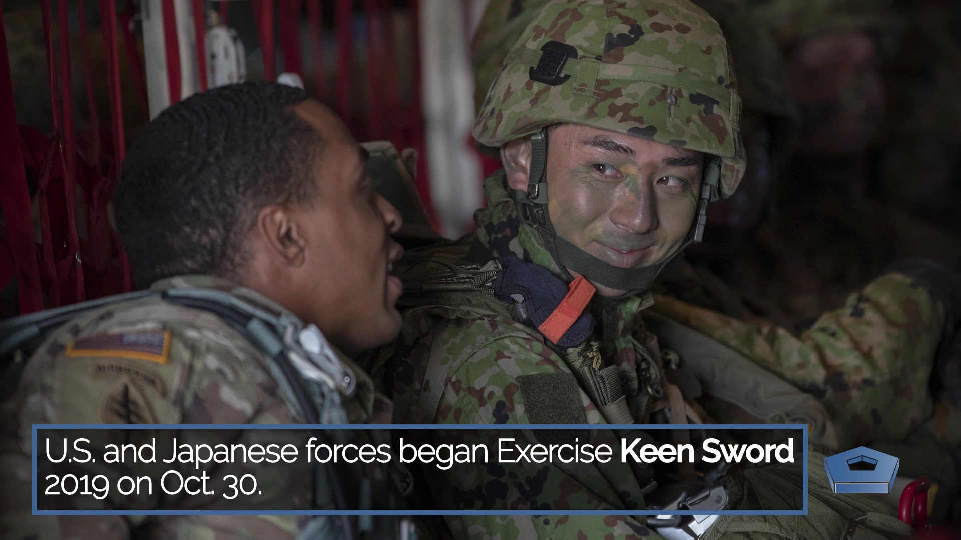 Video screen shot on exercise Keen Sword.