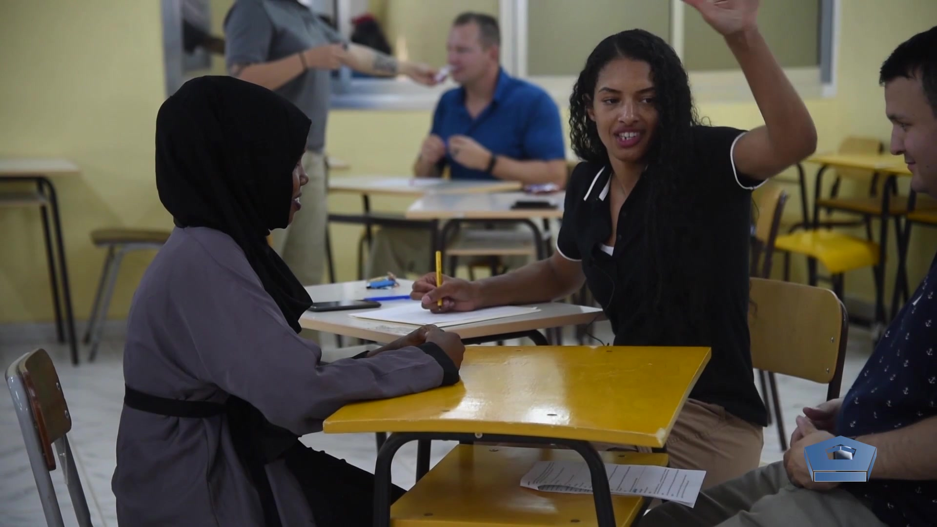 Soldiers from the 403rd Civil Affairs Battalion are deployed to the African continent to support Combined Joint Task Force Horn of Africa. For the past six months they've been doing something rather special — teaching English to Moroccan nursing students so they can  better interact with English-speaking patients and physicians.