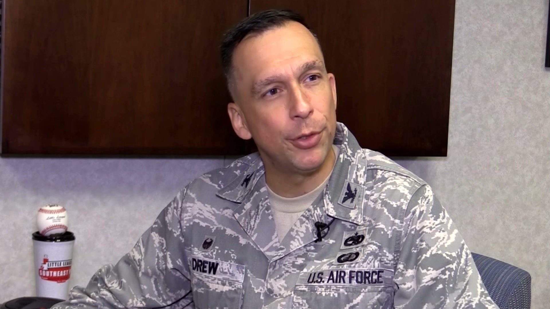 Col. Lyle Drew, Commander, 78th ABW, Robins Air Force Base, Ga., shares his perspectives on the importance of mentorship, Nov. 14, 2018. Air Force Materiel Command shares the impact of mentoring through first-person experiences from its leaders. (U.S. Air Force Video by Airman 1st Class Emily Woodring)