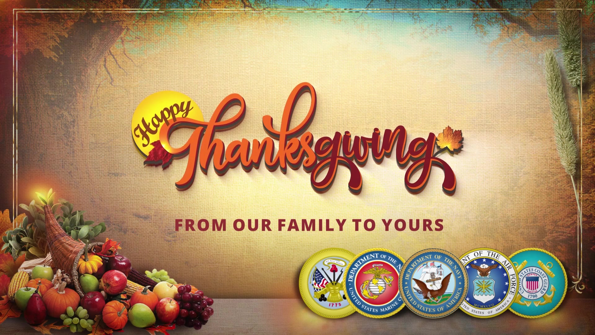 Soldiers from around the world take a moment to wish their families and friends a Happy Thanksgiving.