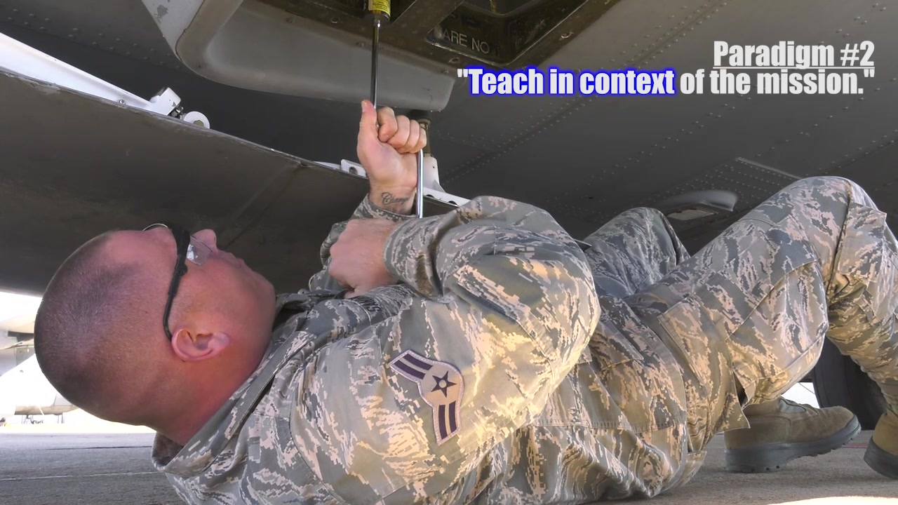 Lt. Gen. Steven Kwast, Air Education and Training Command commander, challenged training wings to break the old paradigms of training and establish new ones such as making proficiency the constant instead of time, teaching in context of the mission, and give the student control of what, when and how they learn. The 365th Training Squadron at Sheppard Air Force Base, Texas, did that when they fast-tracked New Mexico Air National Guard Airman 1st Class Joshua Sandoval through their avionics fundamentals and electronic warfare courses. Because of his vast amount of experience in aircraft maintenance, having earned an aviation maintenance technology degree from Eastern New Mexico University-Roswell, Sandoval was able to finish the courses in 23 academic days, a feat that takes traditional Airmen 90 academic days to complete.