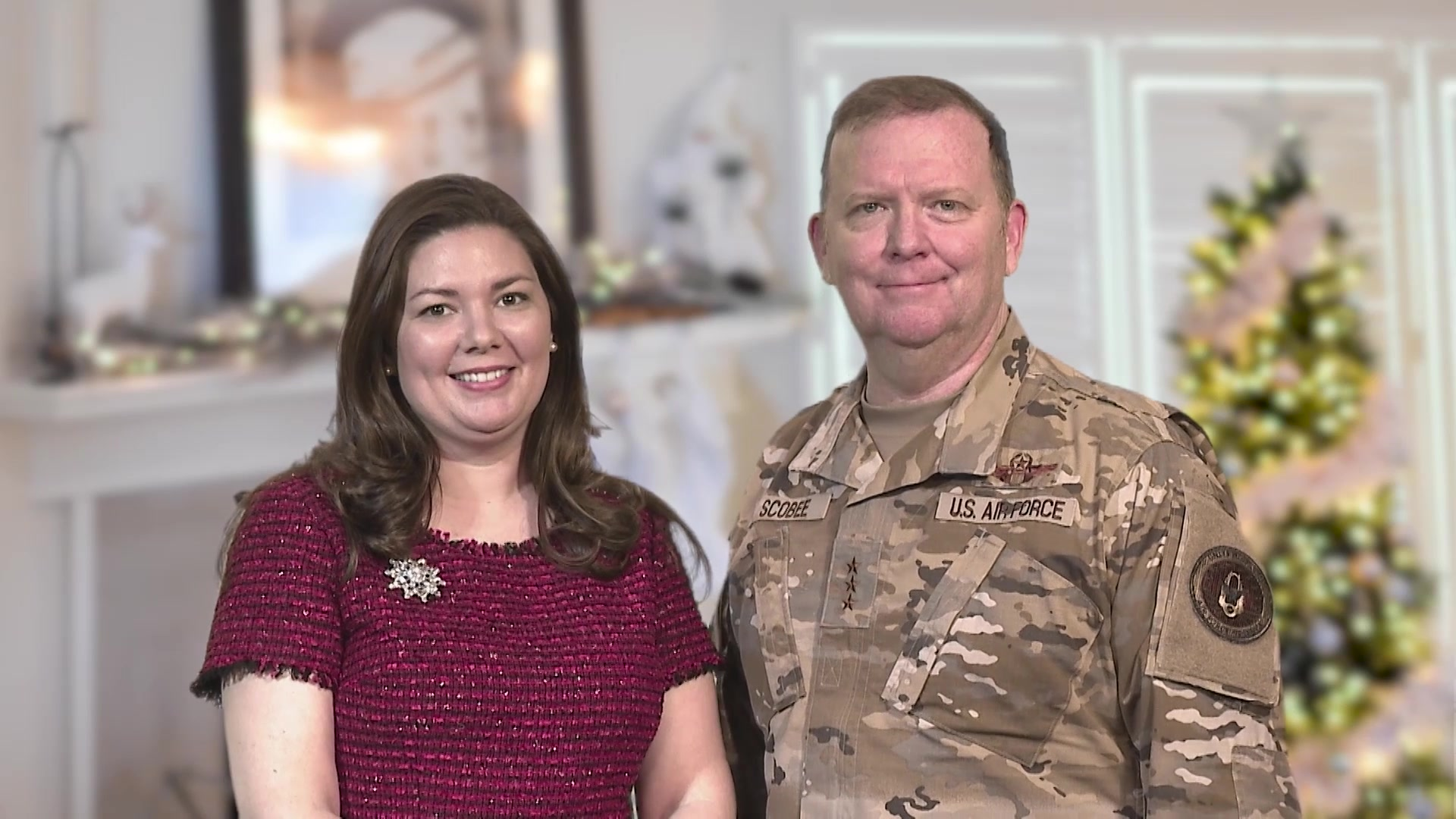 Lt. Gen. Richard Scobee, chief, Air Force Reserve and commander, Air Force Reserve Command, and his wife Janis send their warmest holiday greetings from their family to yours... Happy Holidays!