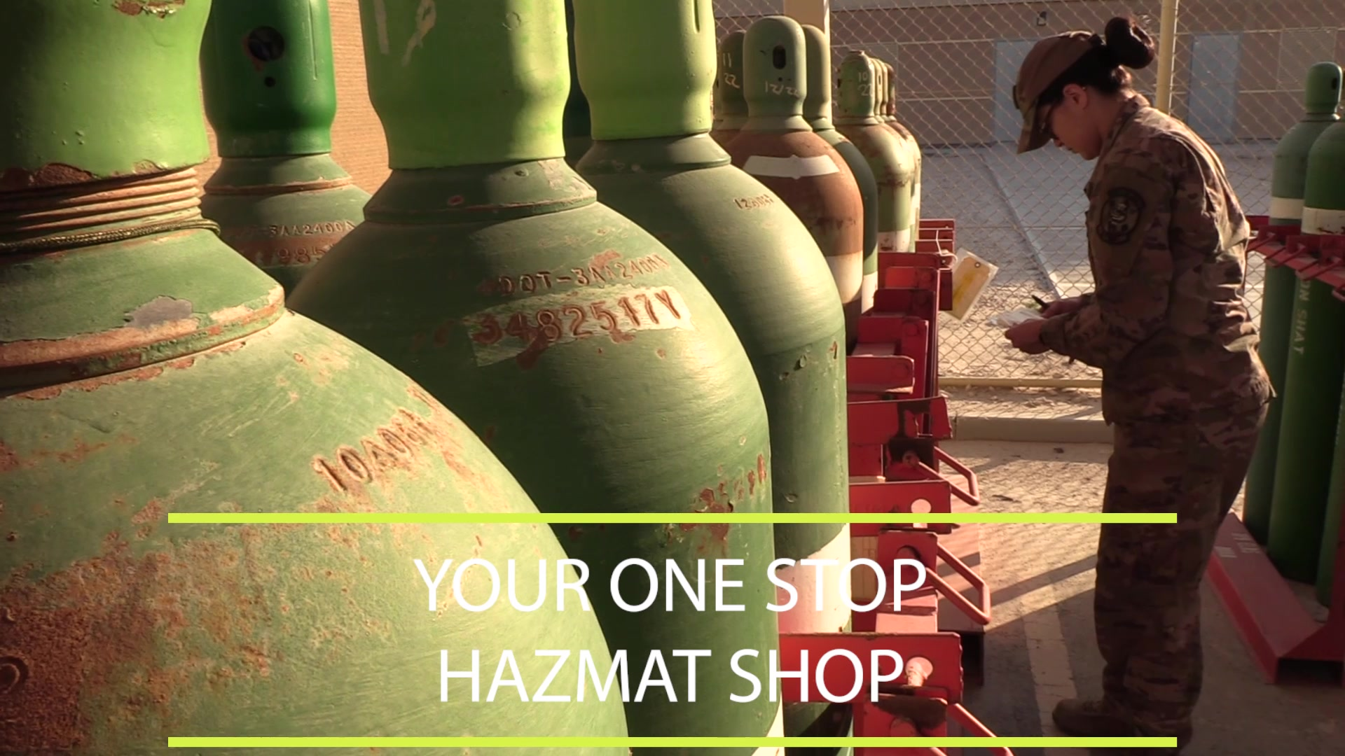"""Airmen at the 379th Expeditionary Logistics Readiness Squadron hazardous material """"HAZMAT pharmacy"""" are responsible for the ordering, issuing, inspection, and safe storage of all HAZMAT at Al Udeid."""
