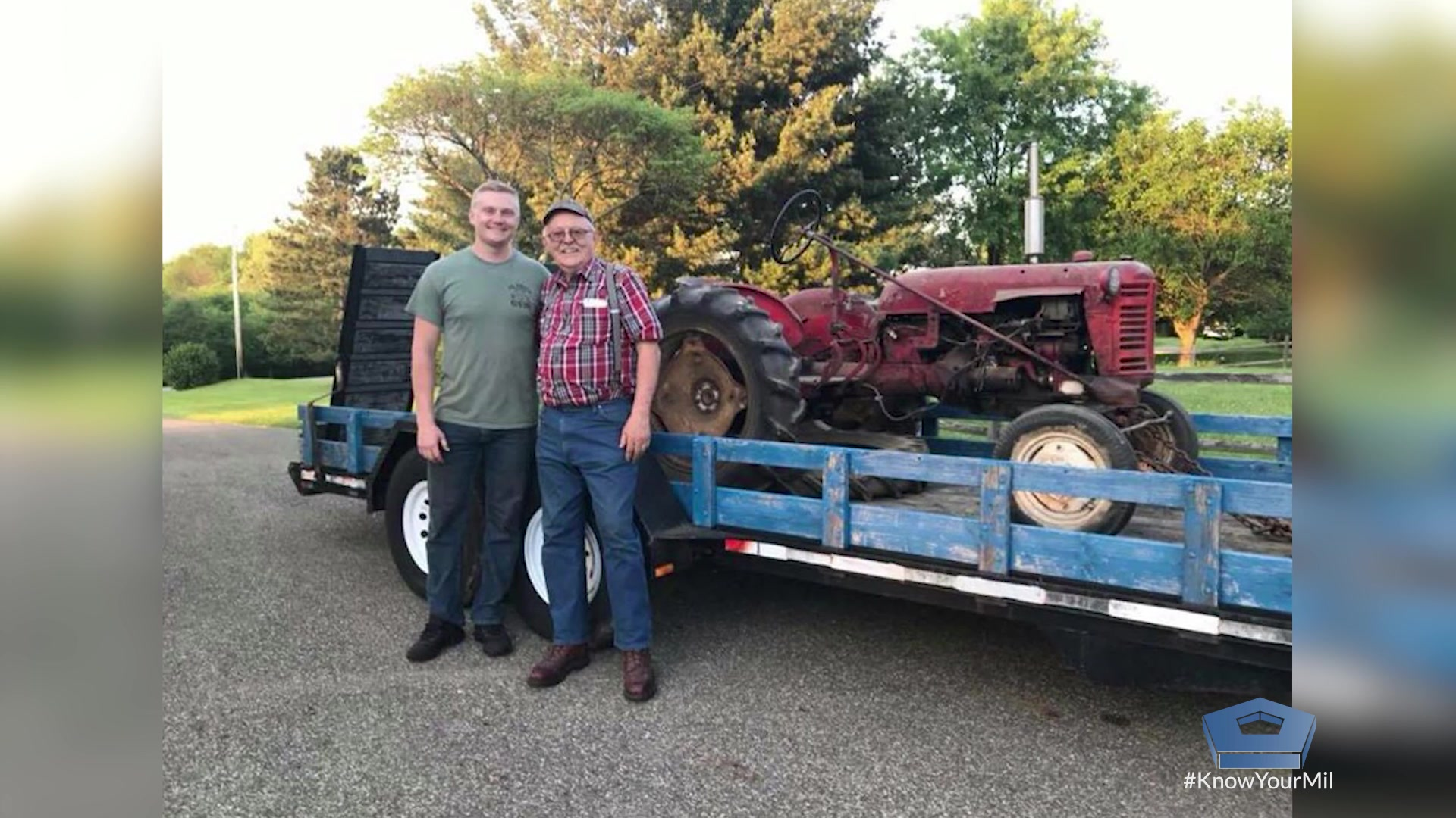 Air Force Staff Sgt. Eric Mann is a military broadcast journalist. At least, that's his day job. He spends his off duty time working on a very large and very heavy family heirloom. It's an old antique tractor handed down from his grandfather.