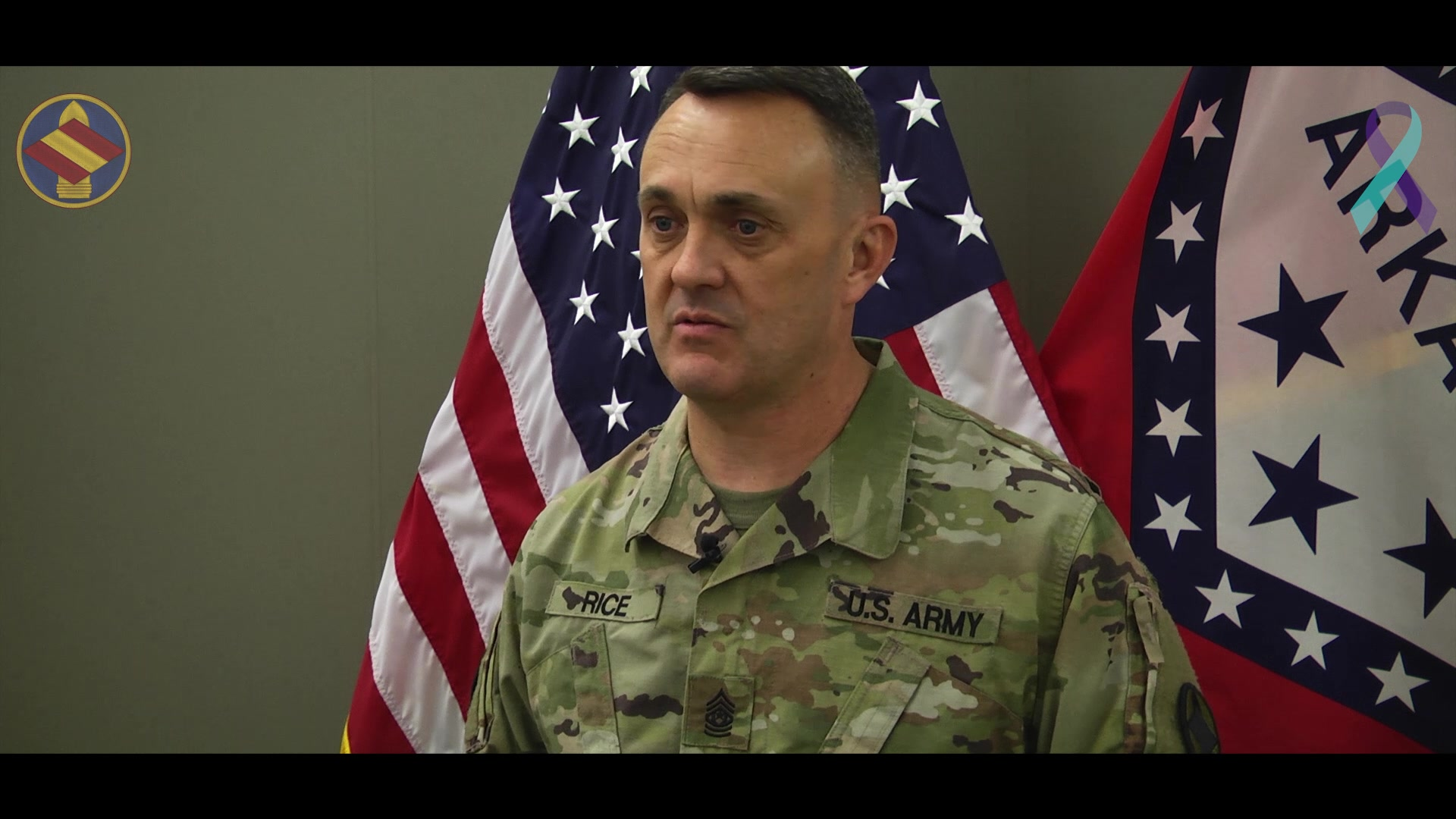 Command Sgt. Maj. Anthony Rice, Brigade Command Sergeant Major, 142nd Field Artillery Brigade, speaks about the seriousness of suicide, how to prevent it and includes a list of resources for veterans and families. Narrated statistics at end read by Spc. Stephen Wright, Brigade Public Affairs. 