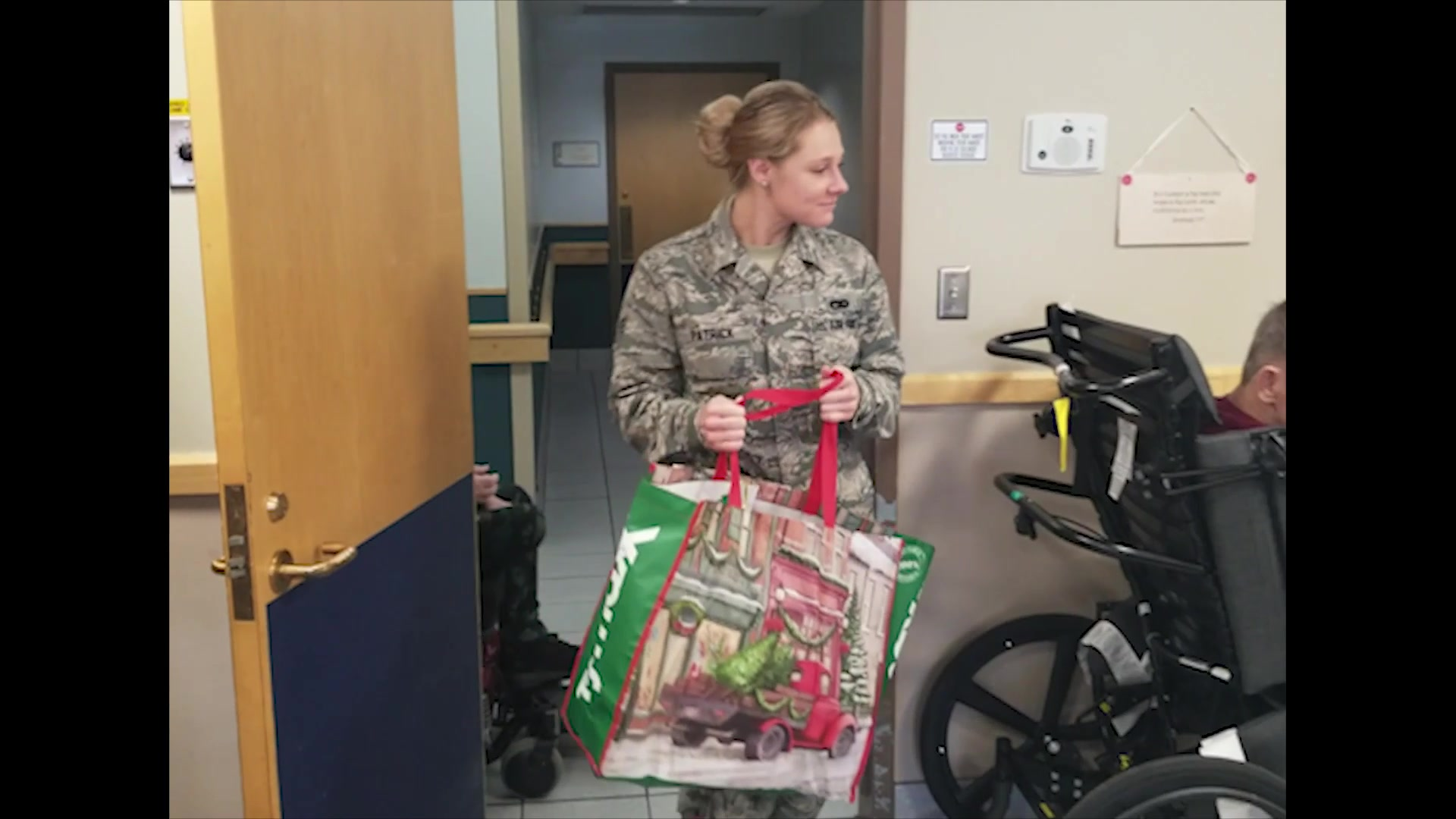 TINKER AIR FORCE BASE, Okla. -- For the 23rd year in a row, Reserve Citizen Airmen from the 507th Air Refueling Wing here visited with the residents of the Norman Veterans Center to deliver gifts, share food, and exchange stories during their annual Christmas party Dec. 20, 2018, in Norman, Oklahoma. (U.S. Air Force video by Maj. Jon Quinlan)