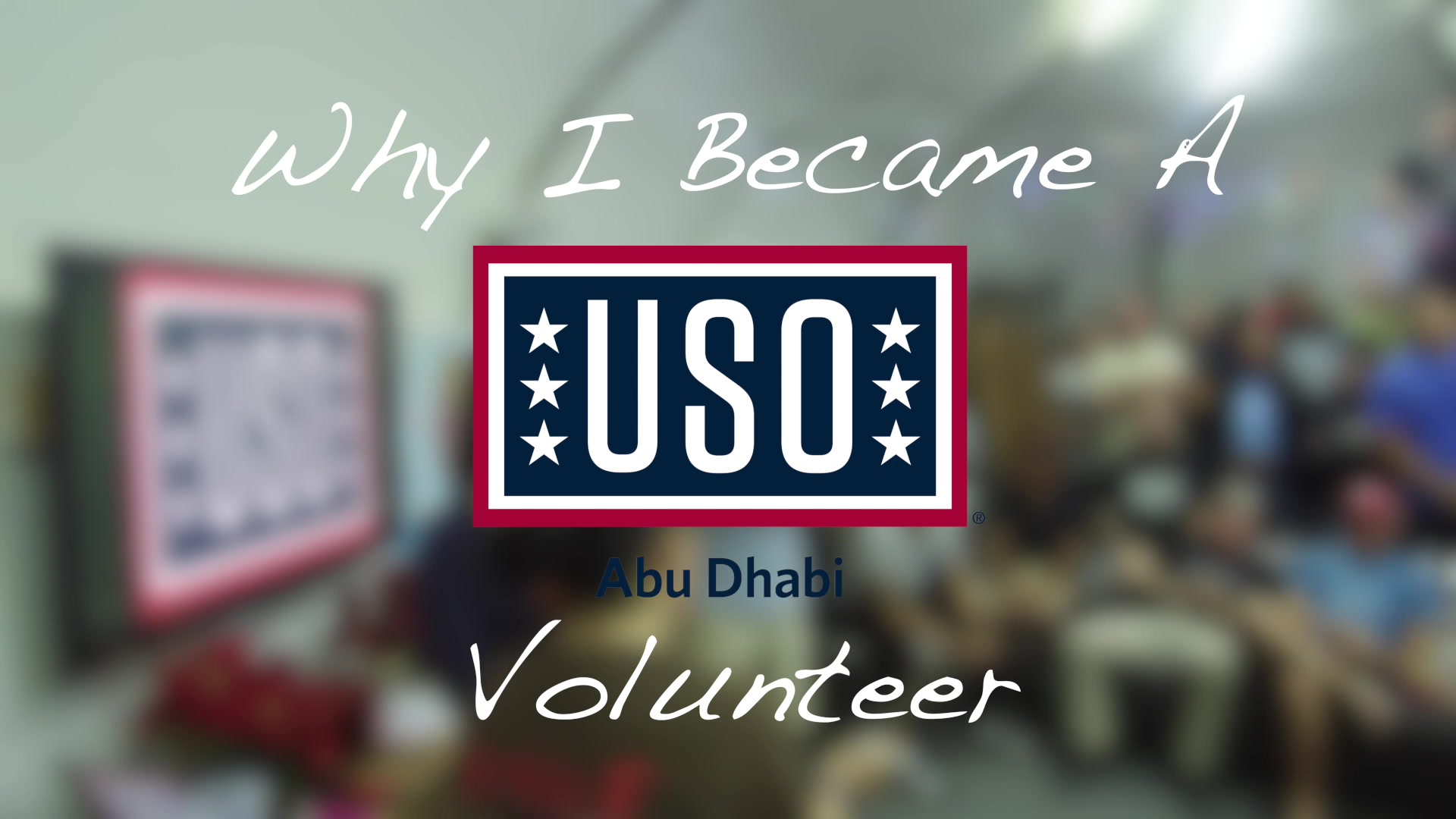 Members of Al Dhafra Air Base give reasons for why they decided to volunteer their time with the USO.