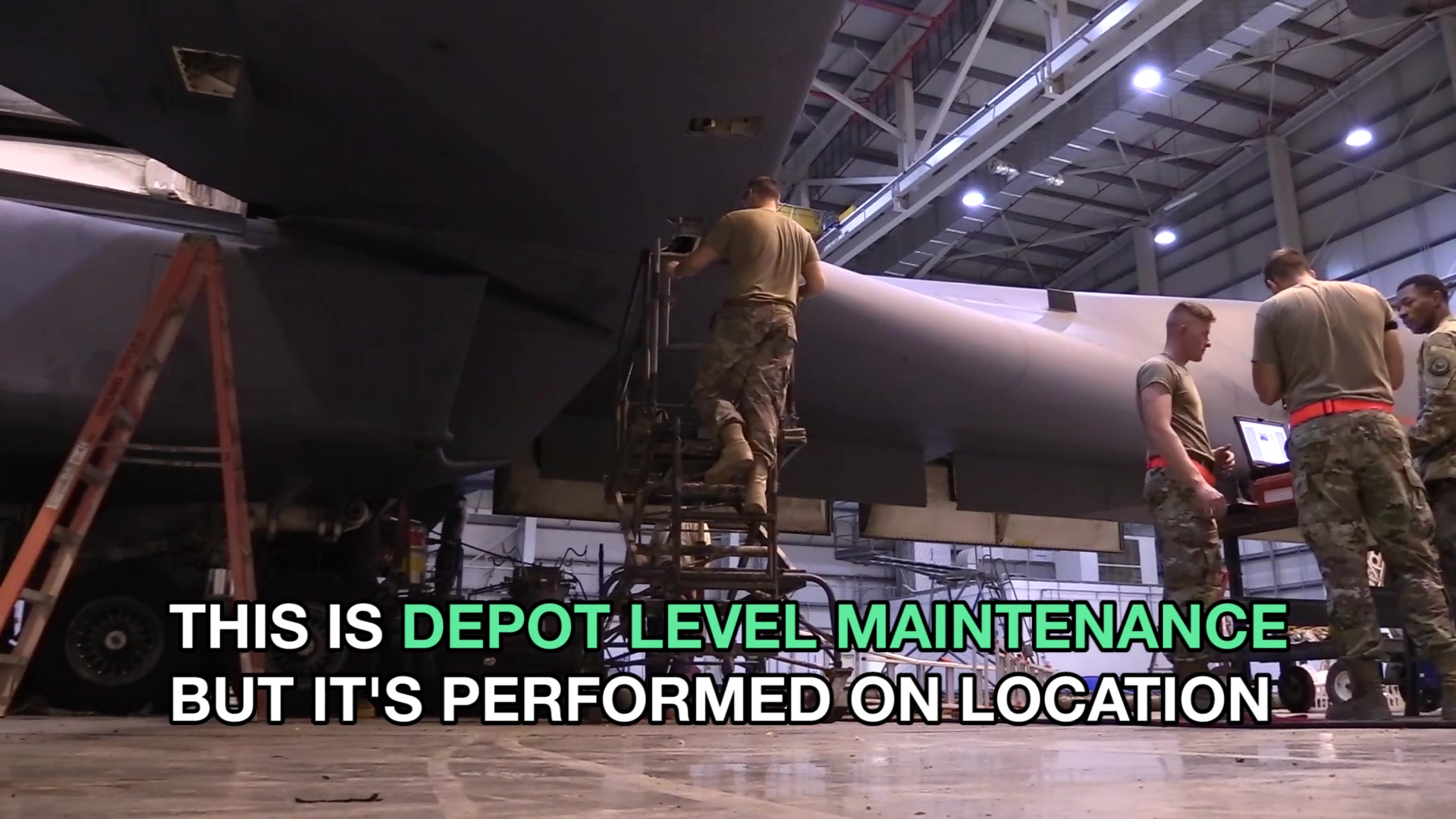 Depot level field team Airmen from the 76th Aircraft Maintenance Group at Tinker Air Force Base, OK, traveled to Al Udeid AB, Qatar, to work alongside Airmen from the 379th Expeditionary Maintenance Group to complete air worthiness inspections of B-1 aircraft.