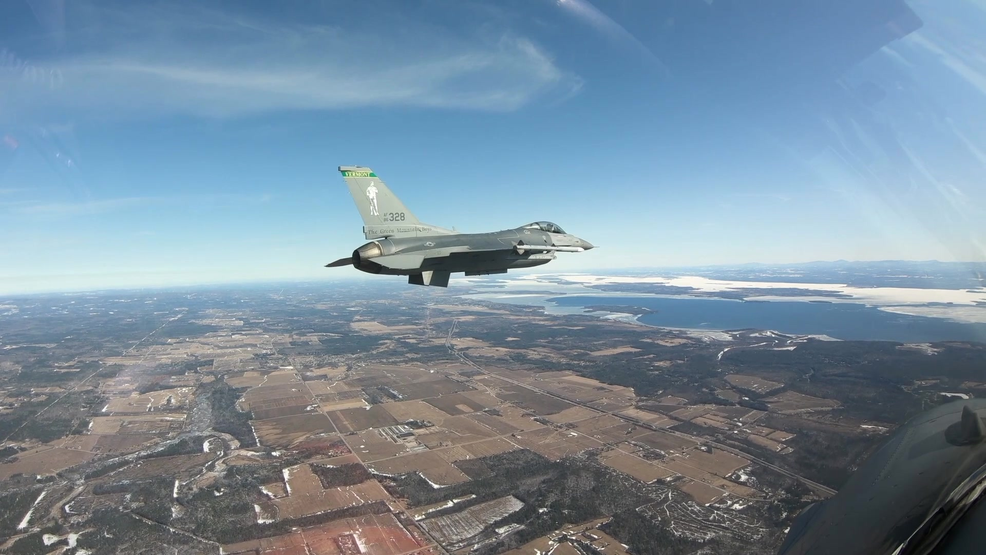 158th Fighter Wing Aerial F-16 footage from inside the cockpit.