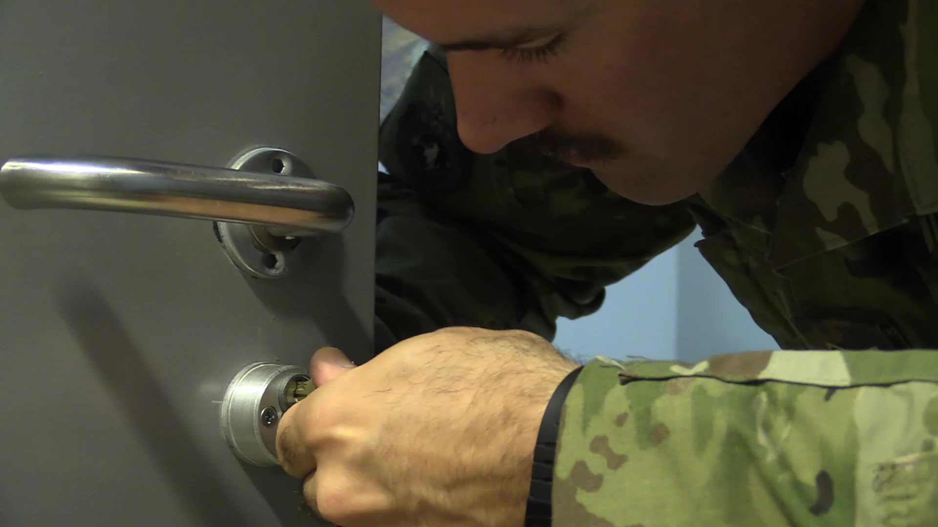 Airmen with the 379th Expeditionary Civil Engineering Squadron, Structures Shop, specialize in a variety of jobs including locksmithing. These airmen maintain and install locks across Al Udeid Air Base, essentially; Securing the Mission.