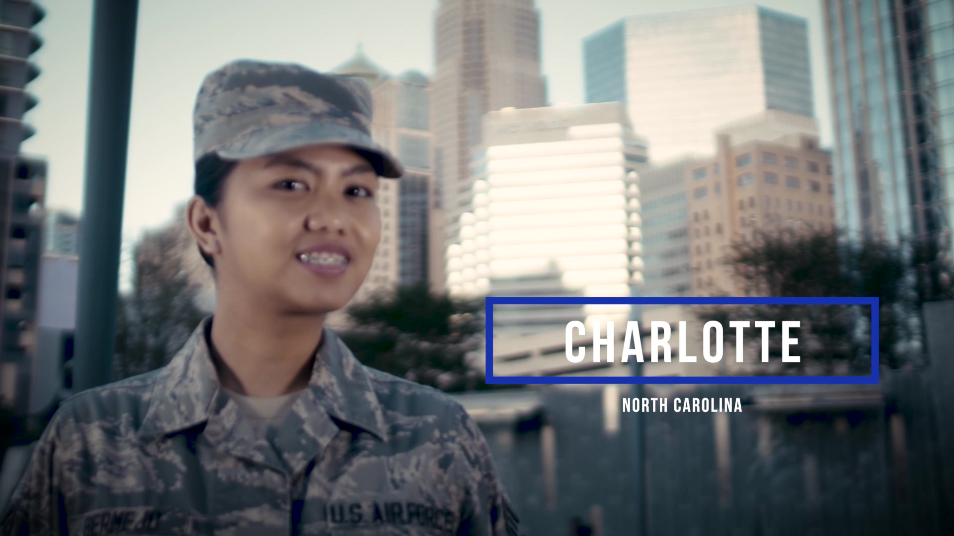 United States Air Force Senior Airman Krizelle Bermejo calls Charlotte home and is a Financial Management Technician at Offutt AFB, Nebraska.  2019 America's Air Force is an outreach effort designed to connect Americans with their Airmen and increase public knowledge of vital Air Force missions and capabilities through strategic engagements in cities across America.