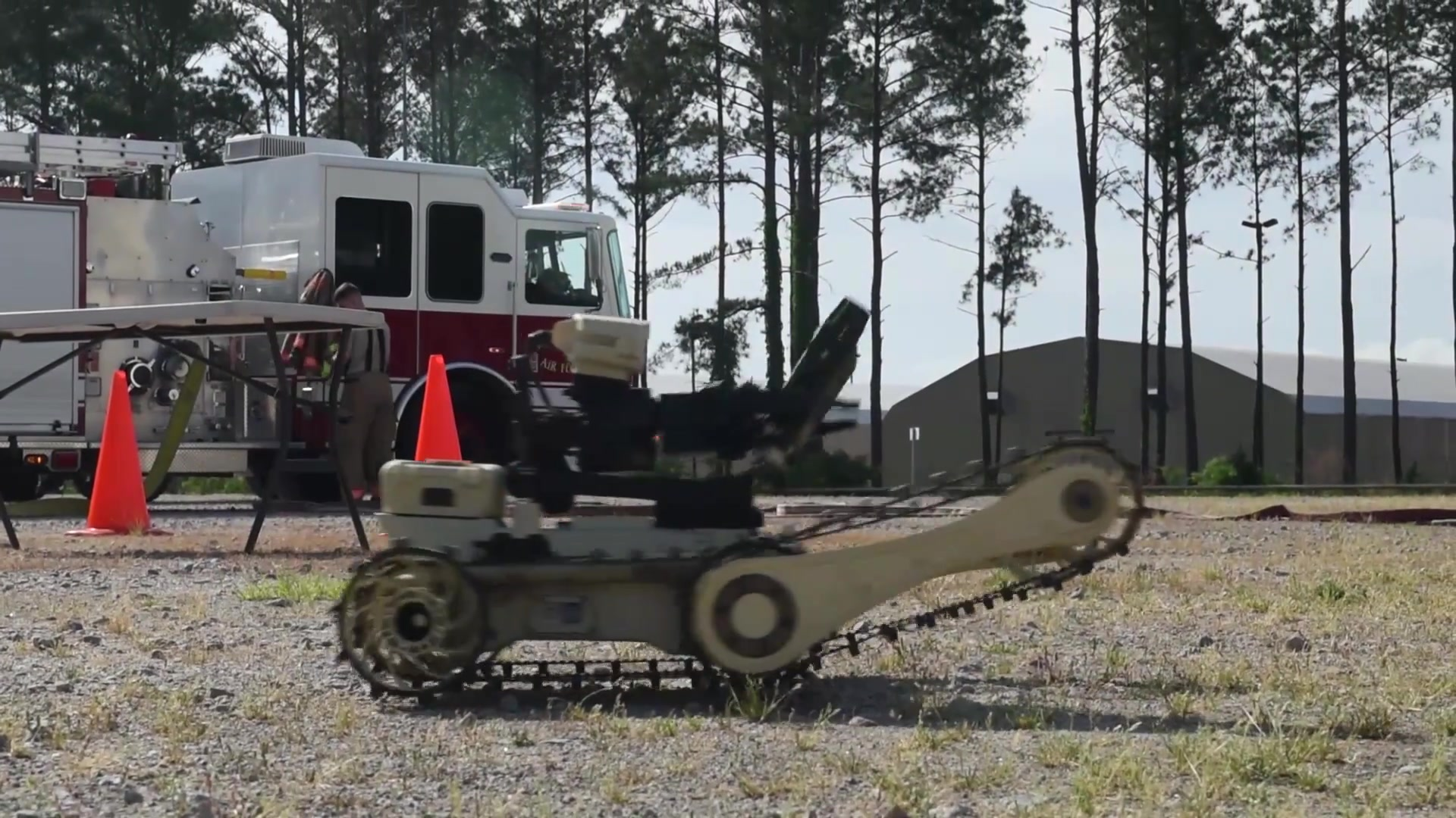 Three flights assigned to the 20th Civil Engineer Squadron participated in a readiness exercise at the fire training grounds at Shaw Air Force Base, South Carolina, May 2.