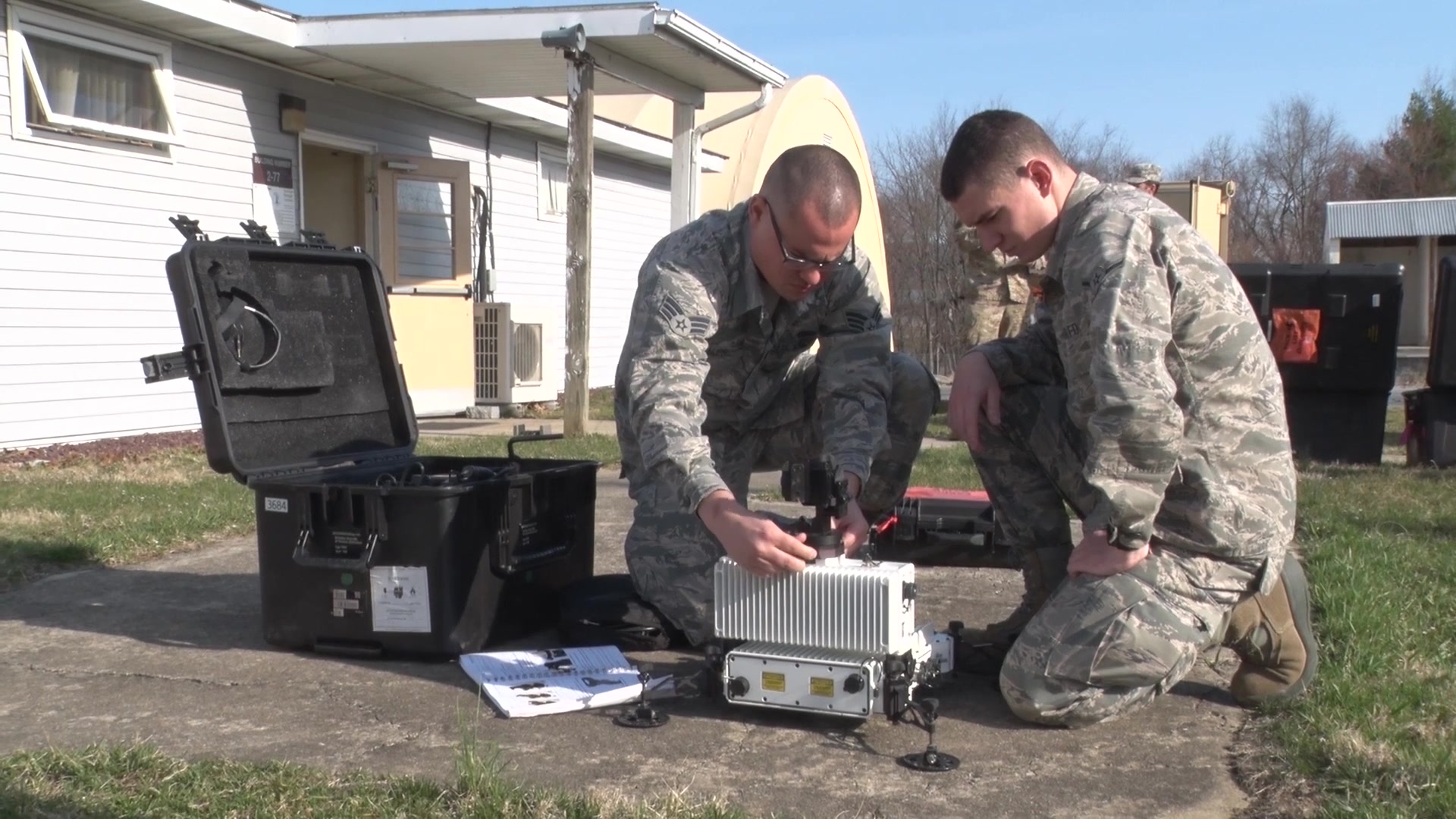 The 193rd Special Operations Communication Squadron spent four day at Fort Indiantown Gap, Annville, Pennsylvania preparing for their upcoming two week exercise this summer.  Here they set up their tent to get comms up and running, then tear it down and place it back up.