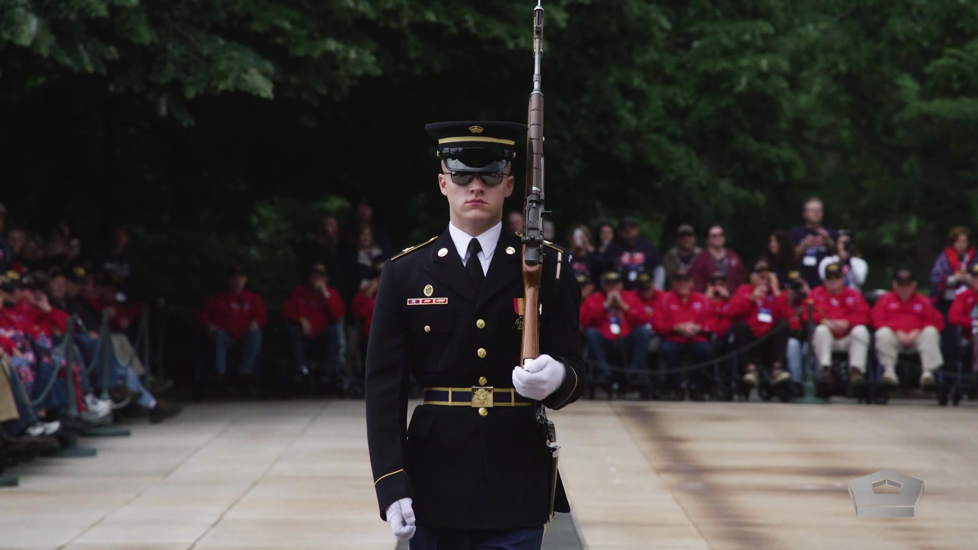 It's a small plot of land that's never left unguarded. The sentinels who guard the Tomb of the Unknown Soldier are a small and exclusive group. They stand their post 24 hours a day, 365 days a year regardless of the weather. Hear the Sentinel's Creed and you'll know why.