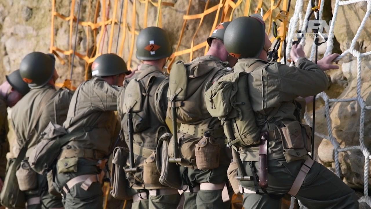 75th Ranger Regiment re-enacts the D-Day Pointe du Hoc Climb June 4, 2019.