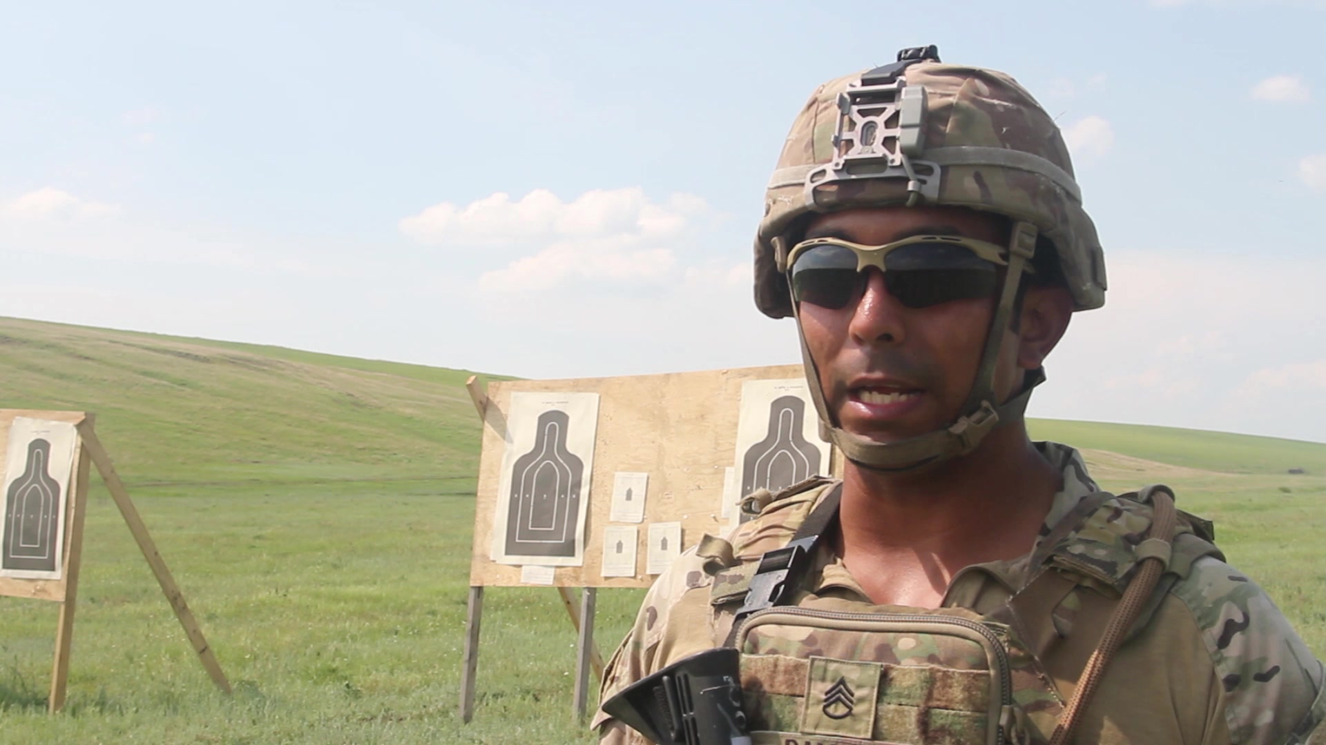 Iron Rangers conduct advance rifle marksmanship at Smardan Training Area, Romania, June 5, 2019. Advanced marksmanship training helps prepare the Soldiers of the 1-16th Infantry to be a lethal asset to NATO allies in support of Atlantic Resolve. U.S. Army video by Staff. Sgt. True Thao)
