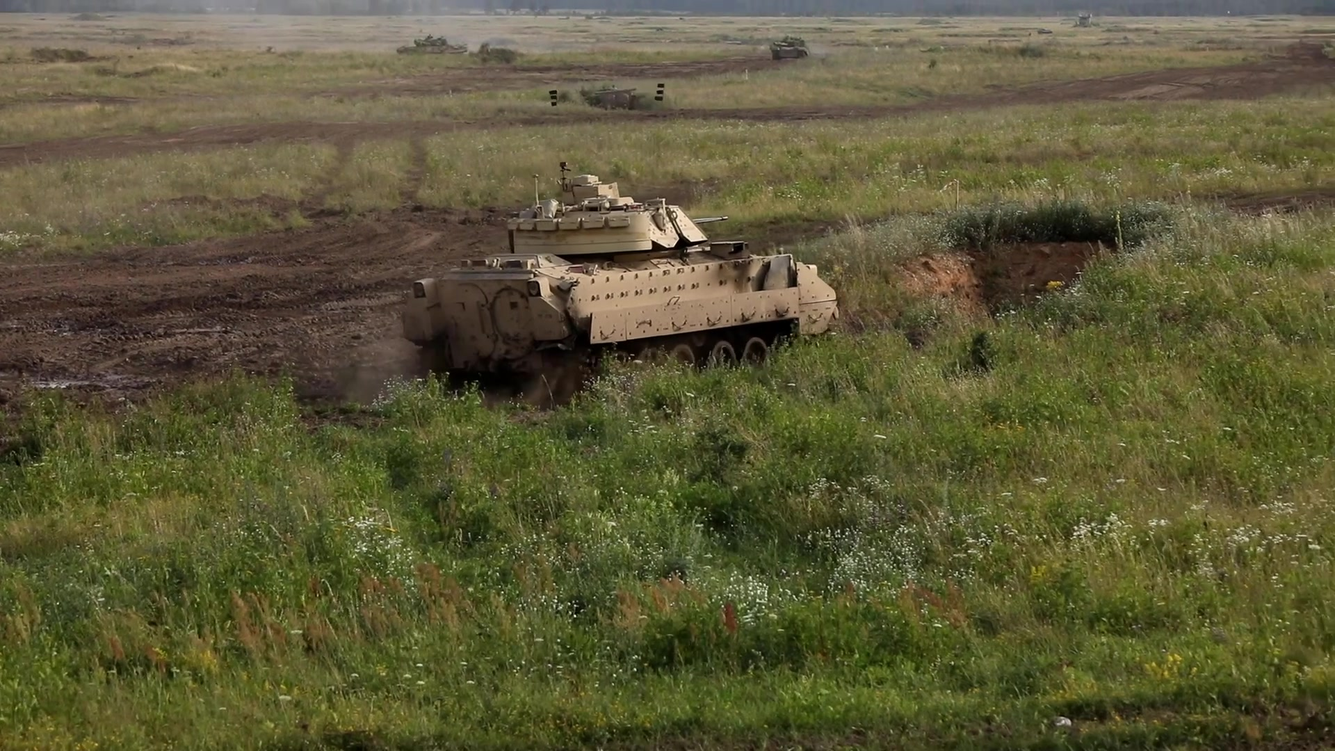 Video elements taken from a Tank Battle event held at Bemowo Piskie Training Area, Poland, July 13, 2019.  3rd Squadron, 278th Armored Calvary Regiment, Pa. Army National Guard are there as part of enhanced Forward Presence Battle Group Poland.