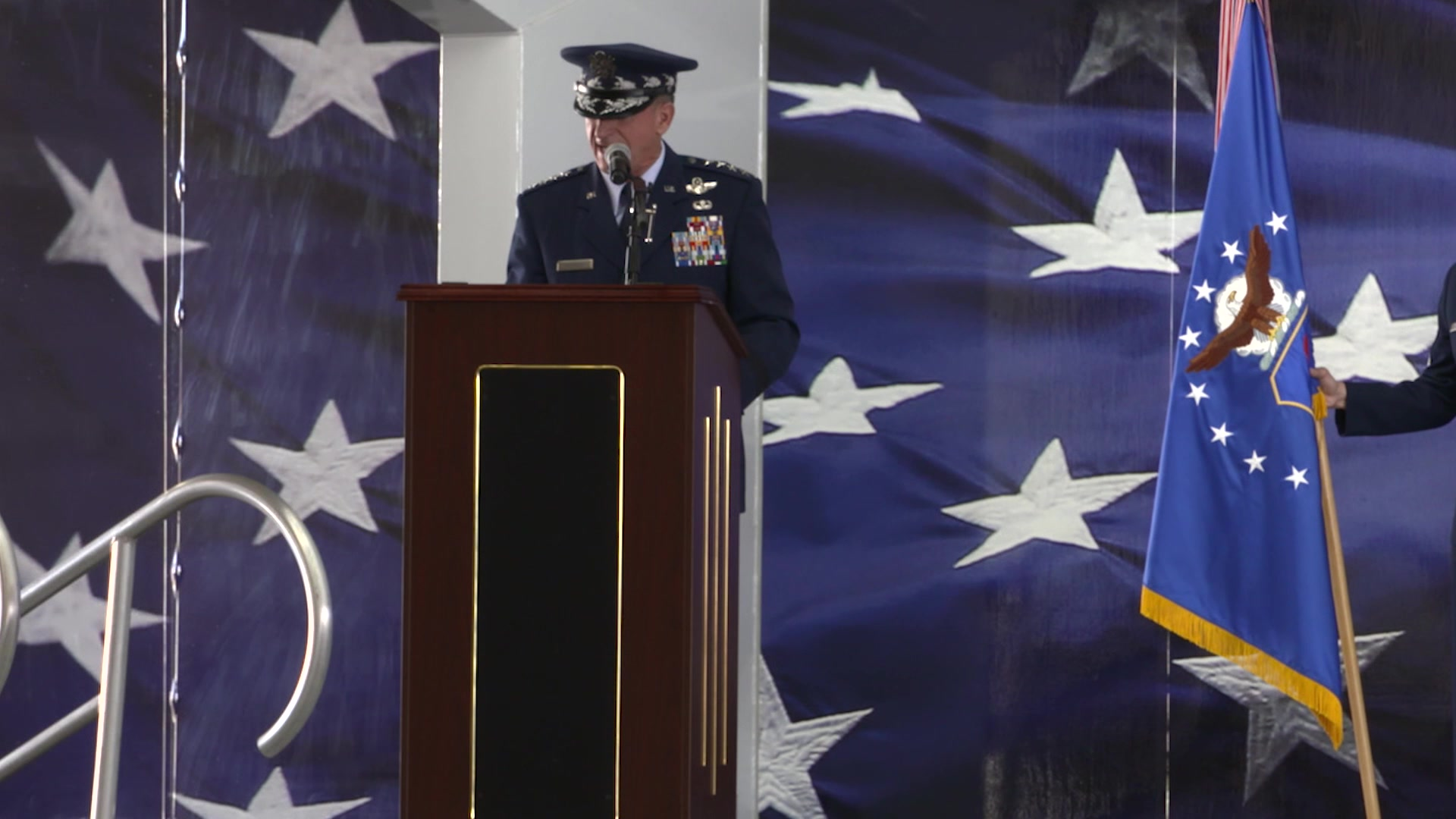 Lt. Gen. Brad Webb took the reins of Air Education and Training Command from Lt. Gen. Steve Kwast during a change of command ceremony at Joint Base San Antonio-Randolph, Texas, on July 26.