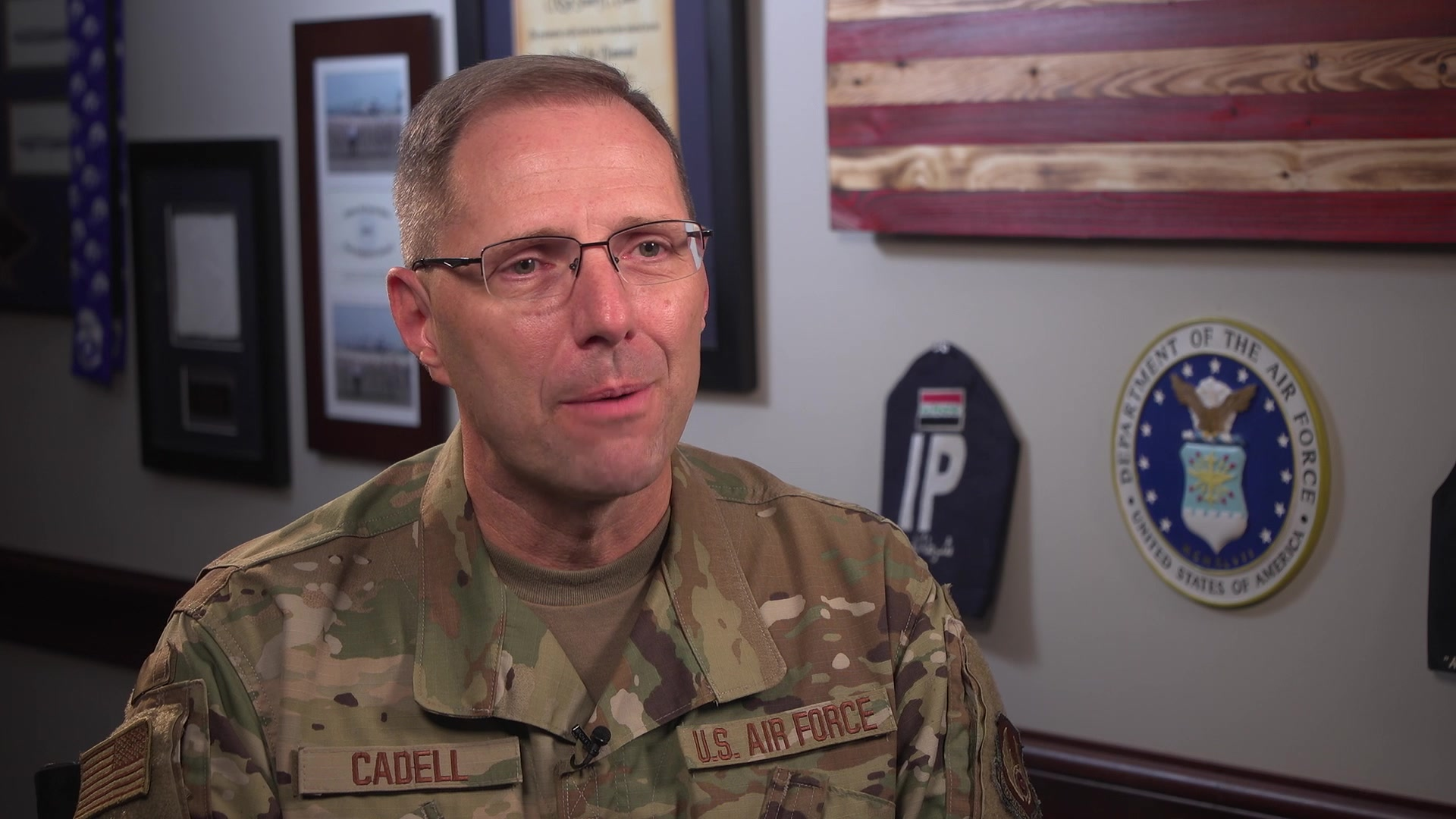 Chief Master Sgt. Stanley Cadell, Command Chief of Air Force Materiel Command, Wright-Patterson Air Force Base, Ohio, shares his perspectives on the importance of mentorship, July 30, 2019. AFMC shares the impact of mentoring through first-person experiences from its leaders. (U.S. Air Force Video by Matthew Clouse)