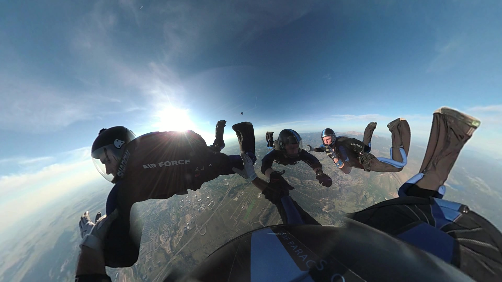 USAF Parachute Team - Wings Of Blue Competition Team 4 Way Practice