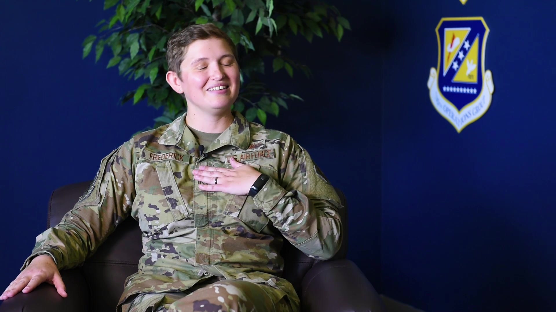 SCHRIEVER AIR FORCE BASE, Colo. -- Staff Sgt. Caryn Frederick, 19th Space Operations Squadron technician, shares her thoughts on leadership, mentorship and success during an interview July 19th, 2019.